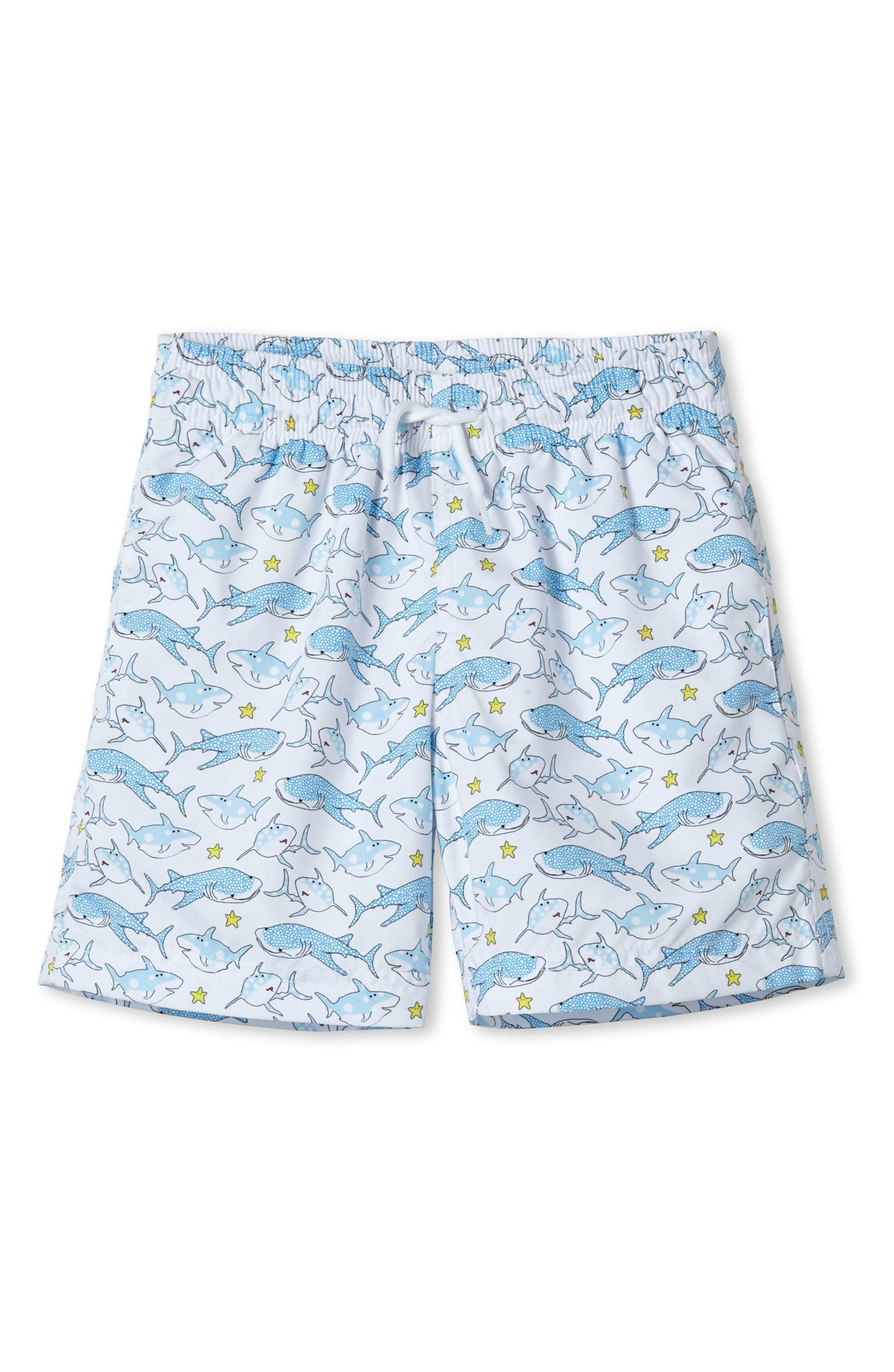 Stella Cove White Shark Swim Trunks (Toddler Boys & Little Boys)