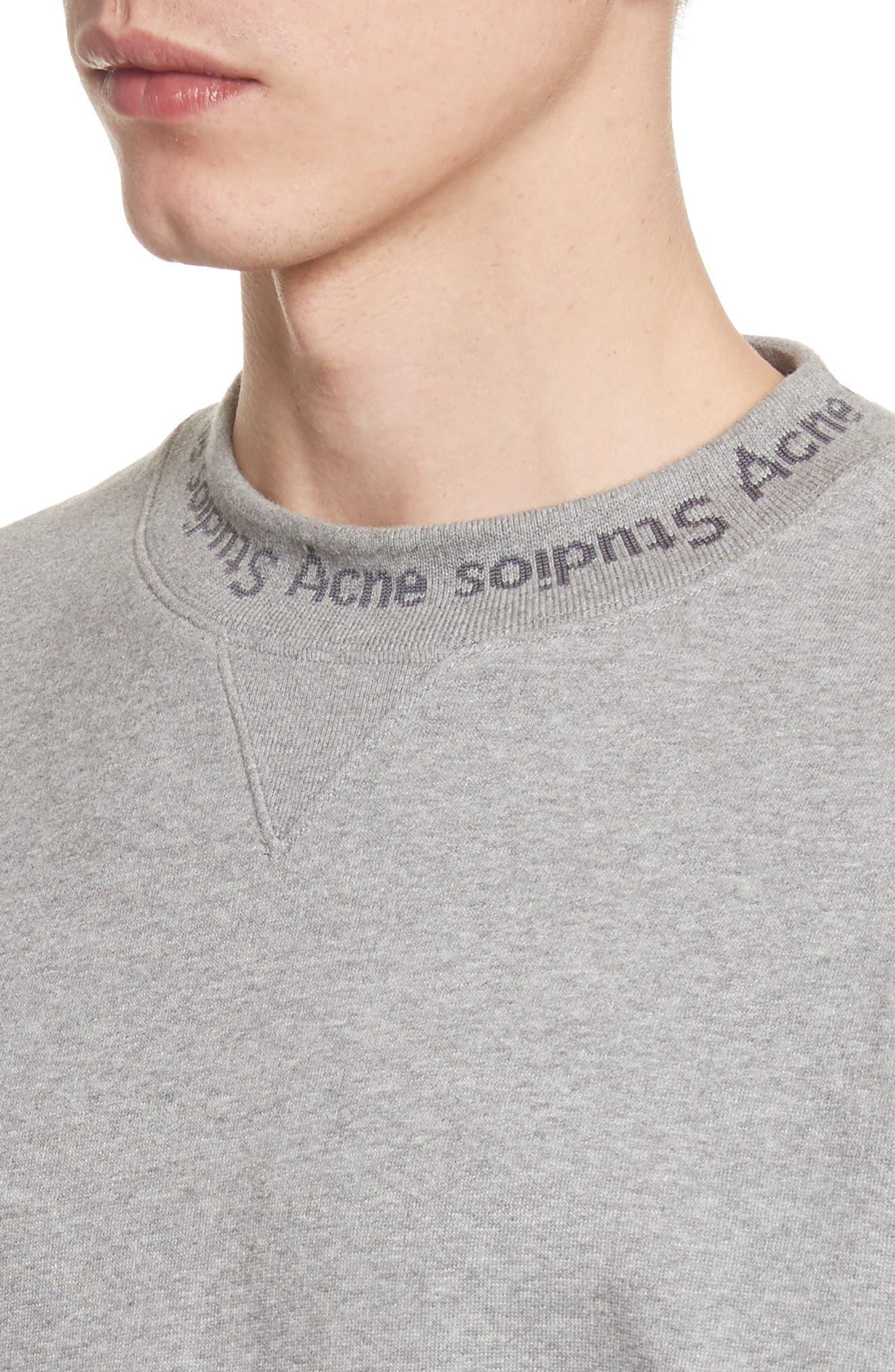 Alternate Image 4  - Acne Studios Flogo Oversize Cotton Sweatshirt
