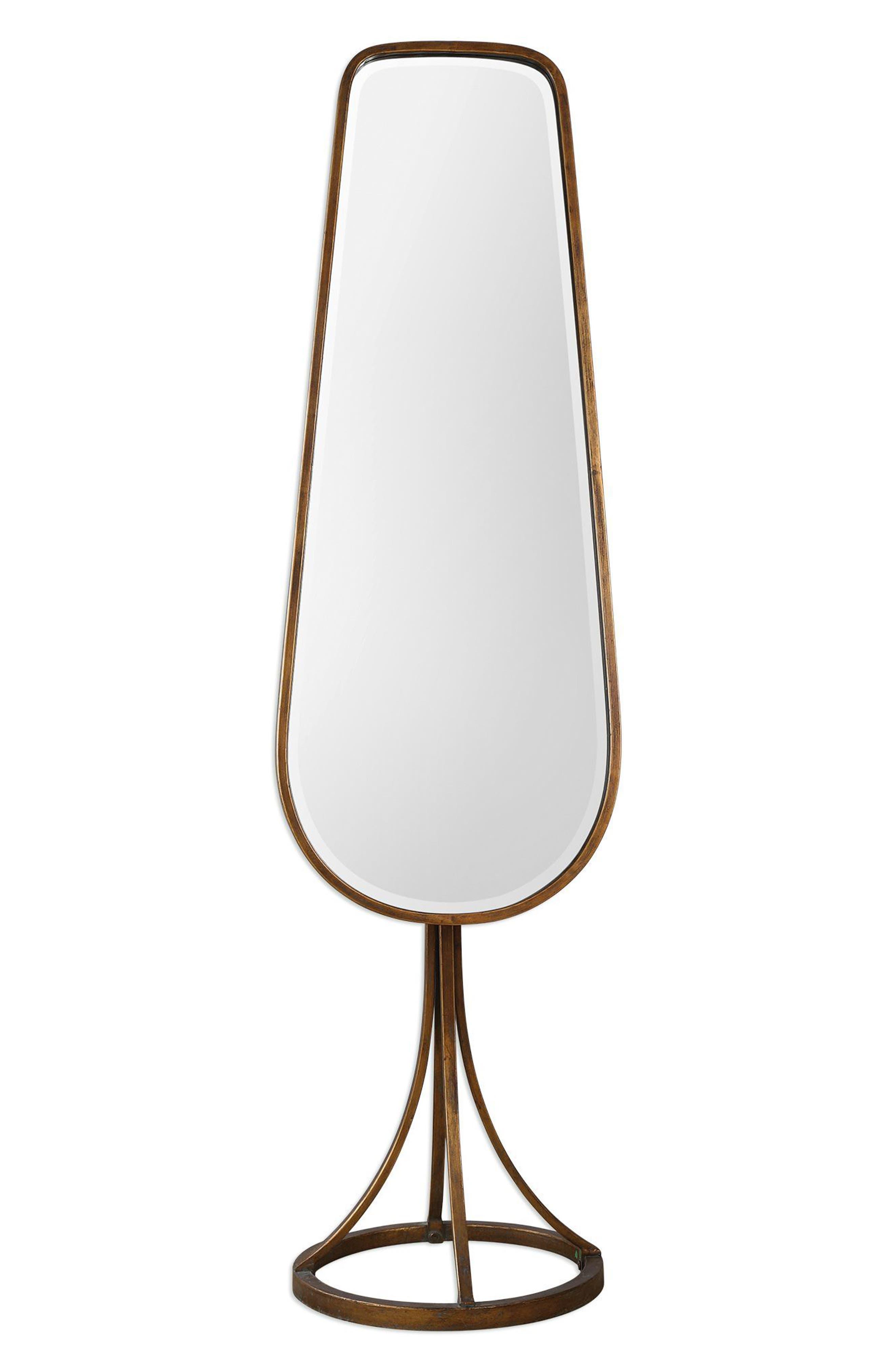 Gavar Cheval Floor Mirror,                             Main thumbnail 1, color,                             Brown