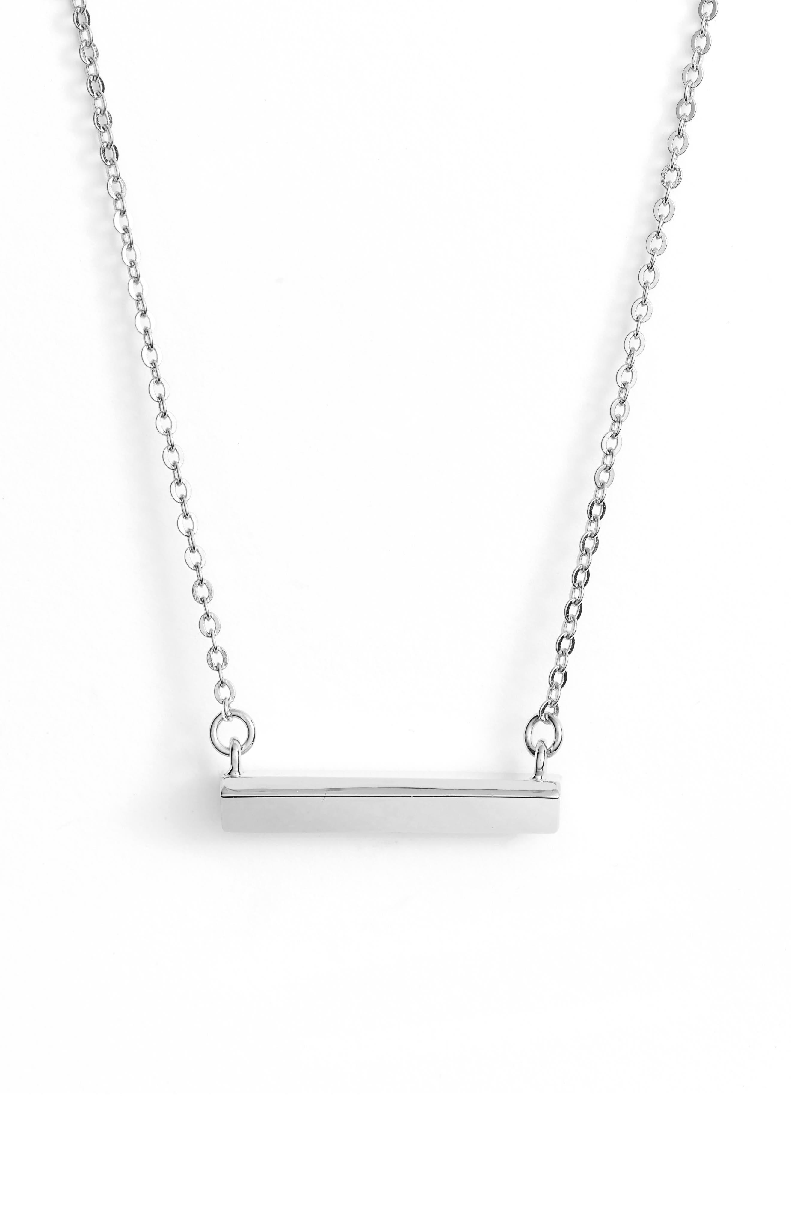 Diamond Shaped Bar Pendant Necklace,                             Main thumbnail 1, color,                             Gold
