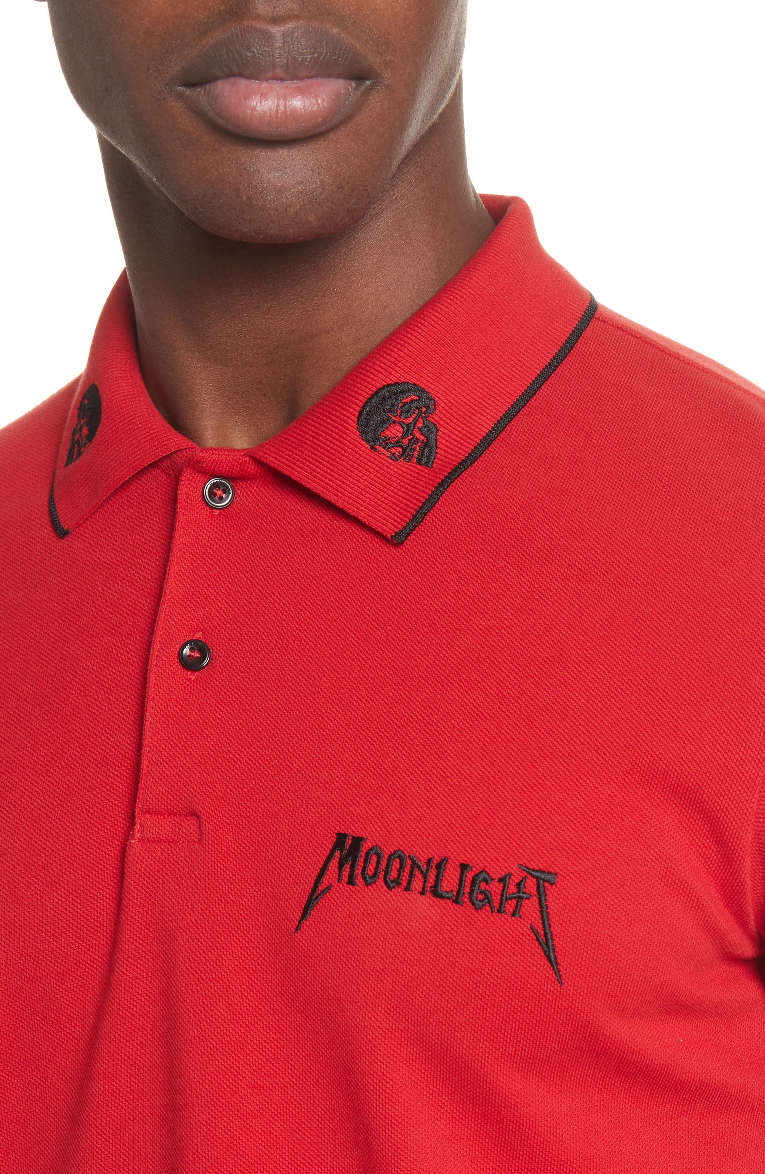 Alternate Image 4  - The Kooples Tipped Piqué Polo