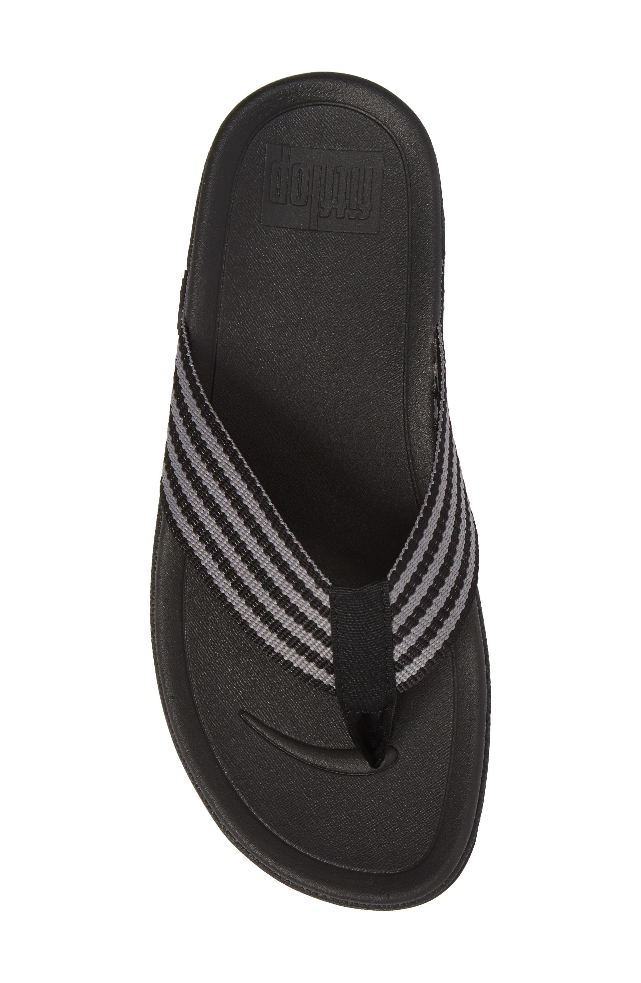 'Surfer' Flip Flop,                             Alternate thumbnail 5, color,                             Black / Grey