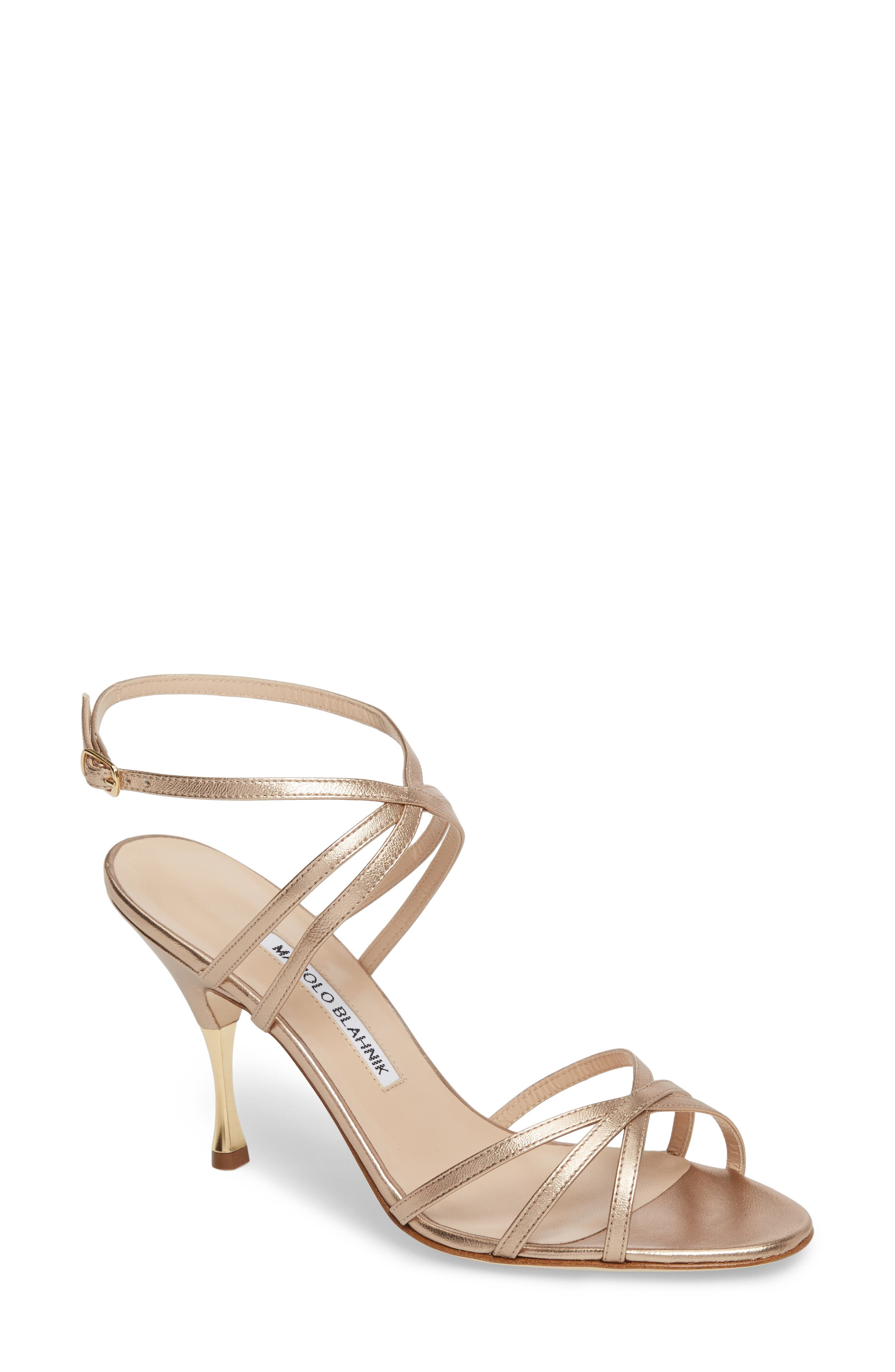 Alternate Image 1 Selected - Manolo Blahnik Naro Ankle Strap Sandal (Women)