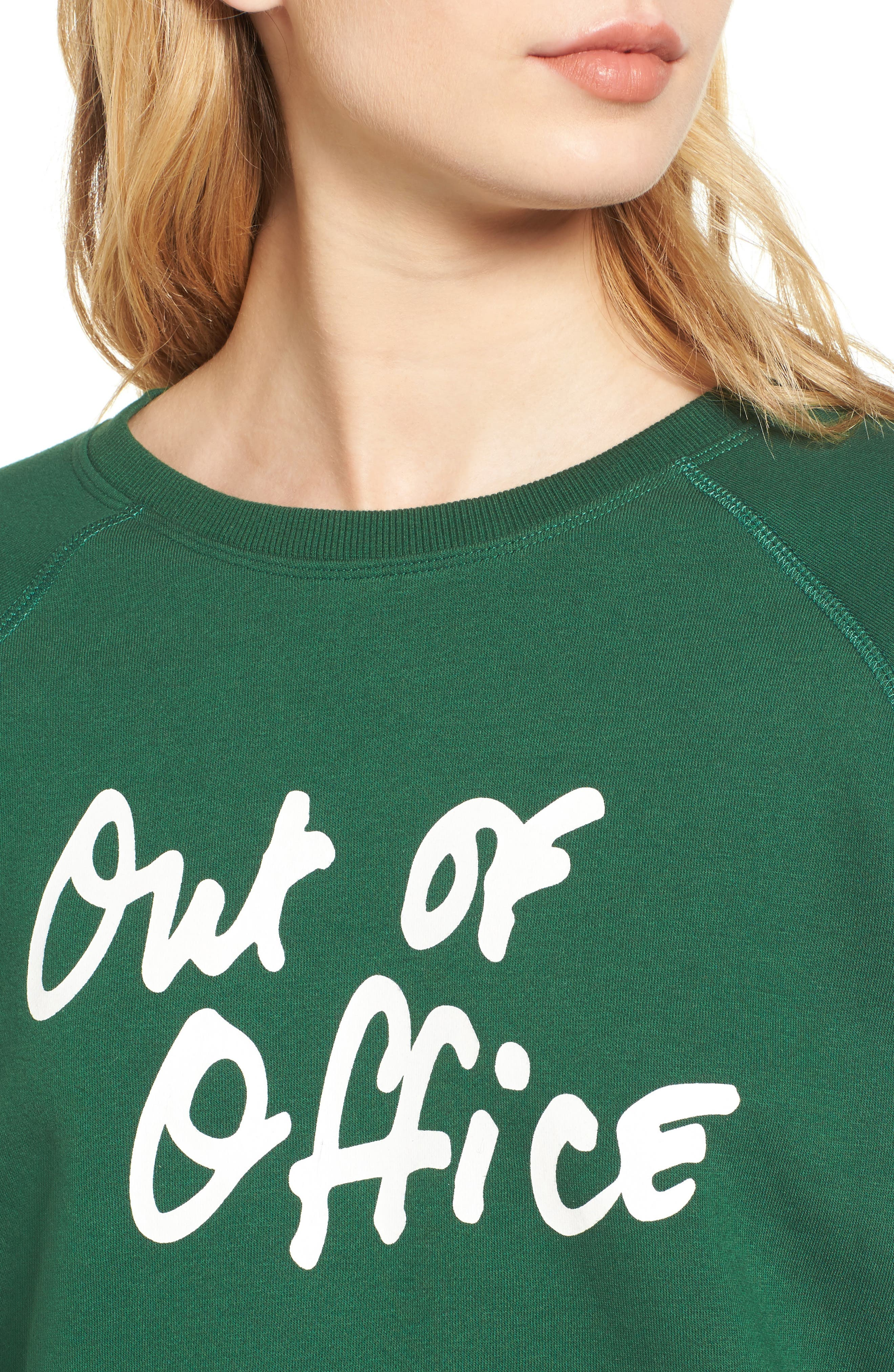 Out of Office Sweatshirt,                             Alternate thumbnail 4, color,                             Eden Multi