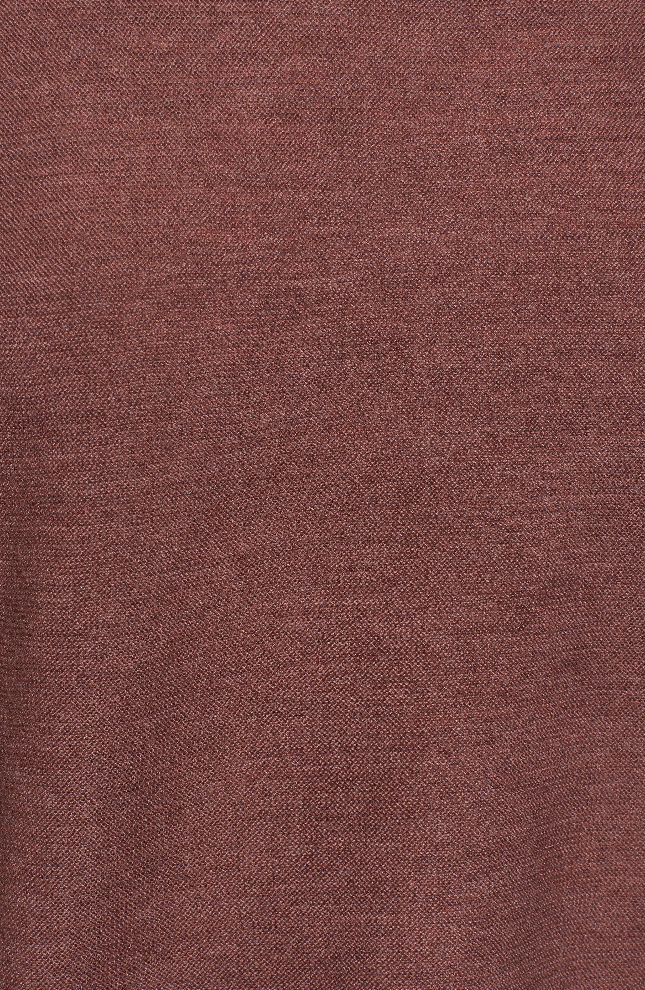 Mix Stitch Merino Bateau Neck Sweater,                             Alternate thumbnail 5, color,                             Mahogany