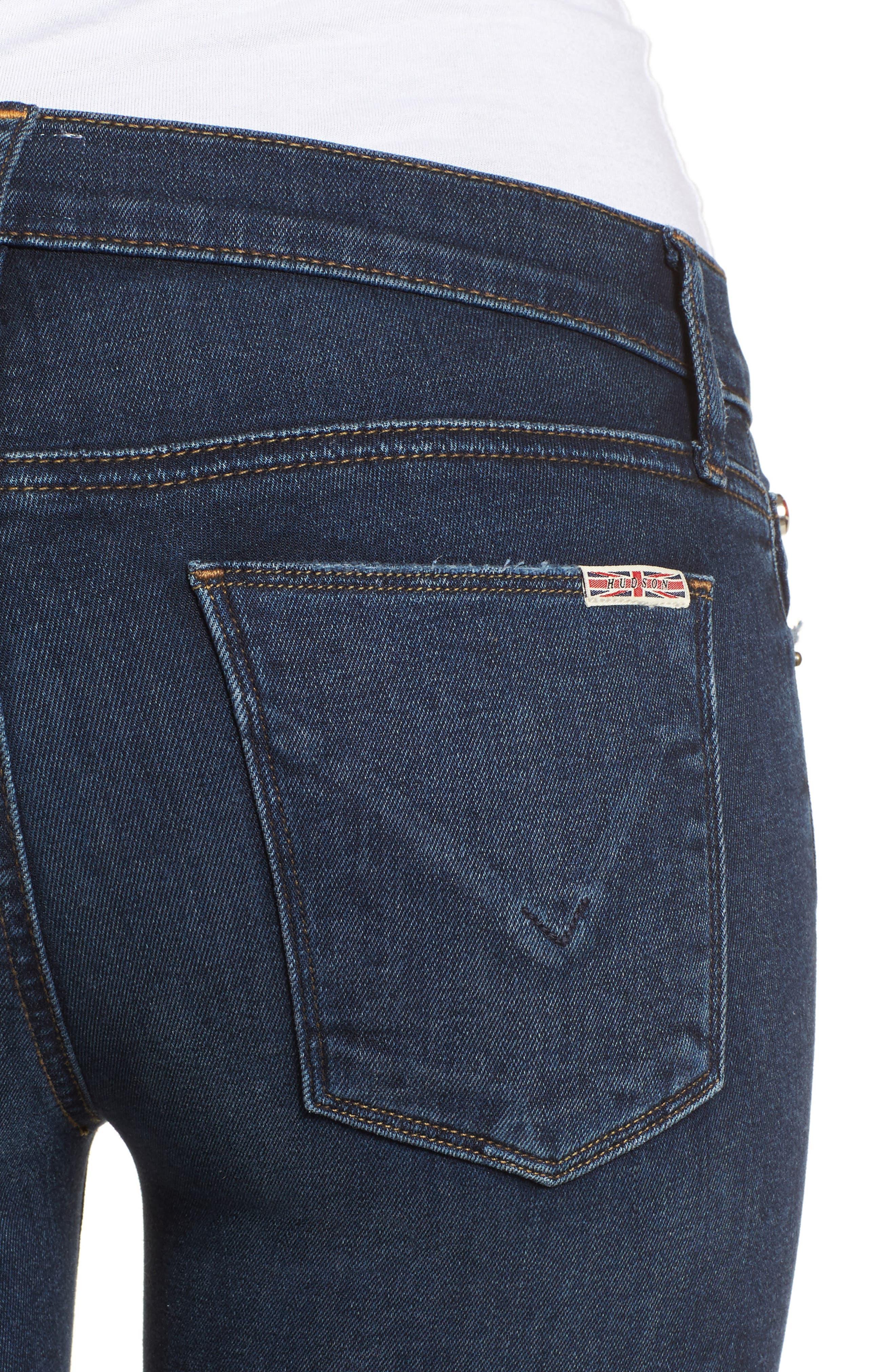 Krista Ankle Super Skinny Jeans,                             Alternate thumbnail 4, color,                             Pillow Talk