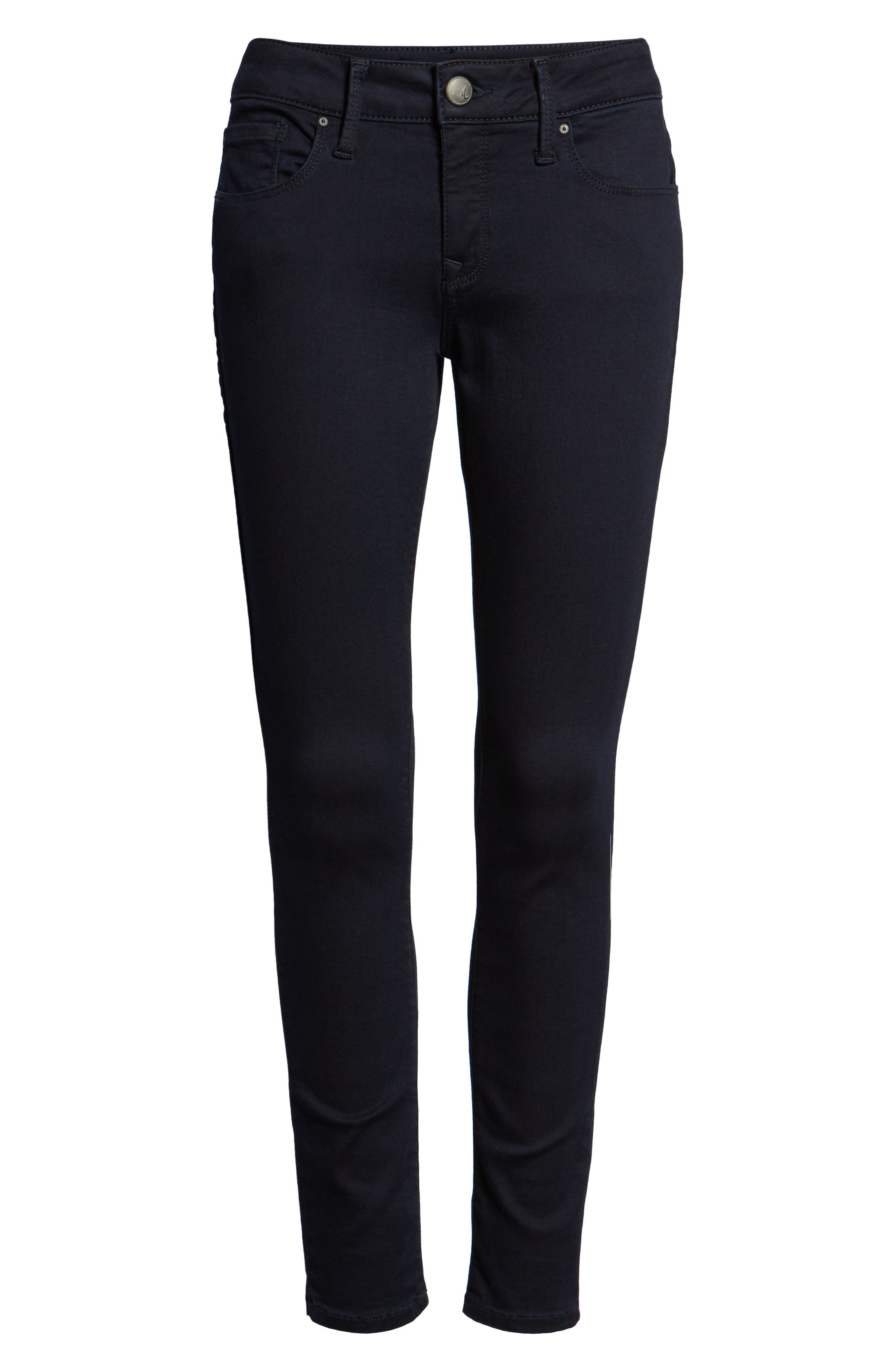 Alternate Image 6  - Mavi Jeans 'Alexa' Midrise Skinny Jeans (Dark Shanty)