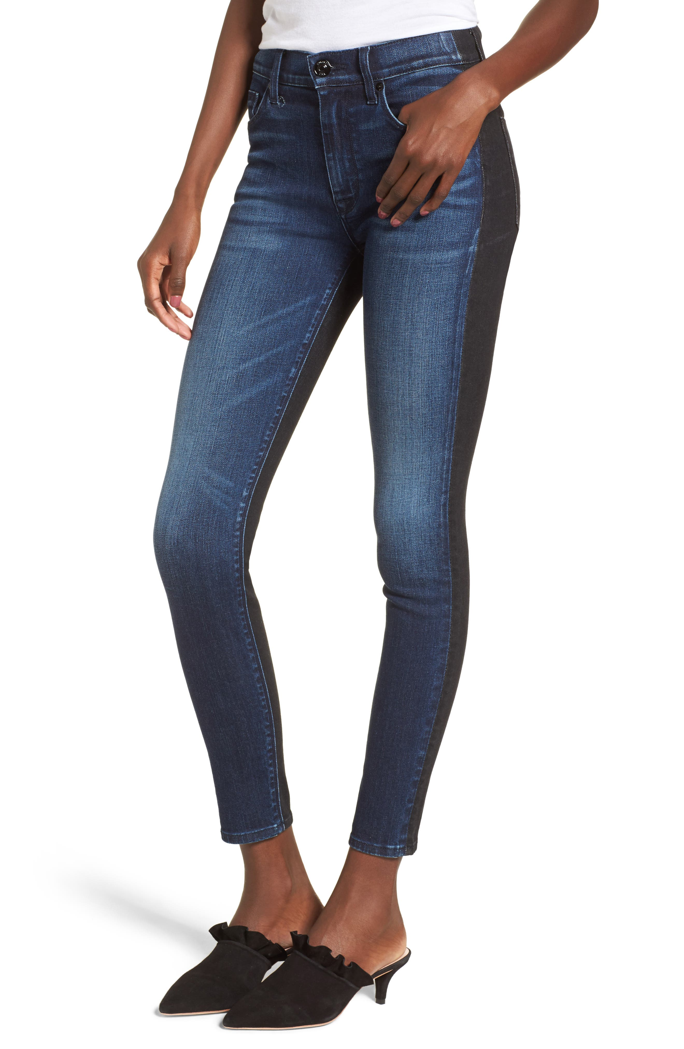 Barbara High Waist Ankle Skinny Jeans,                             Main thumbnail 1, color,                             Dare