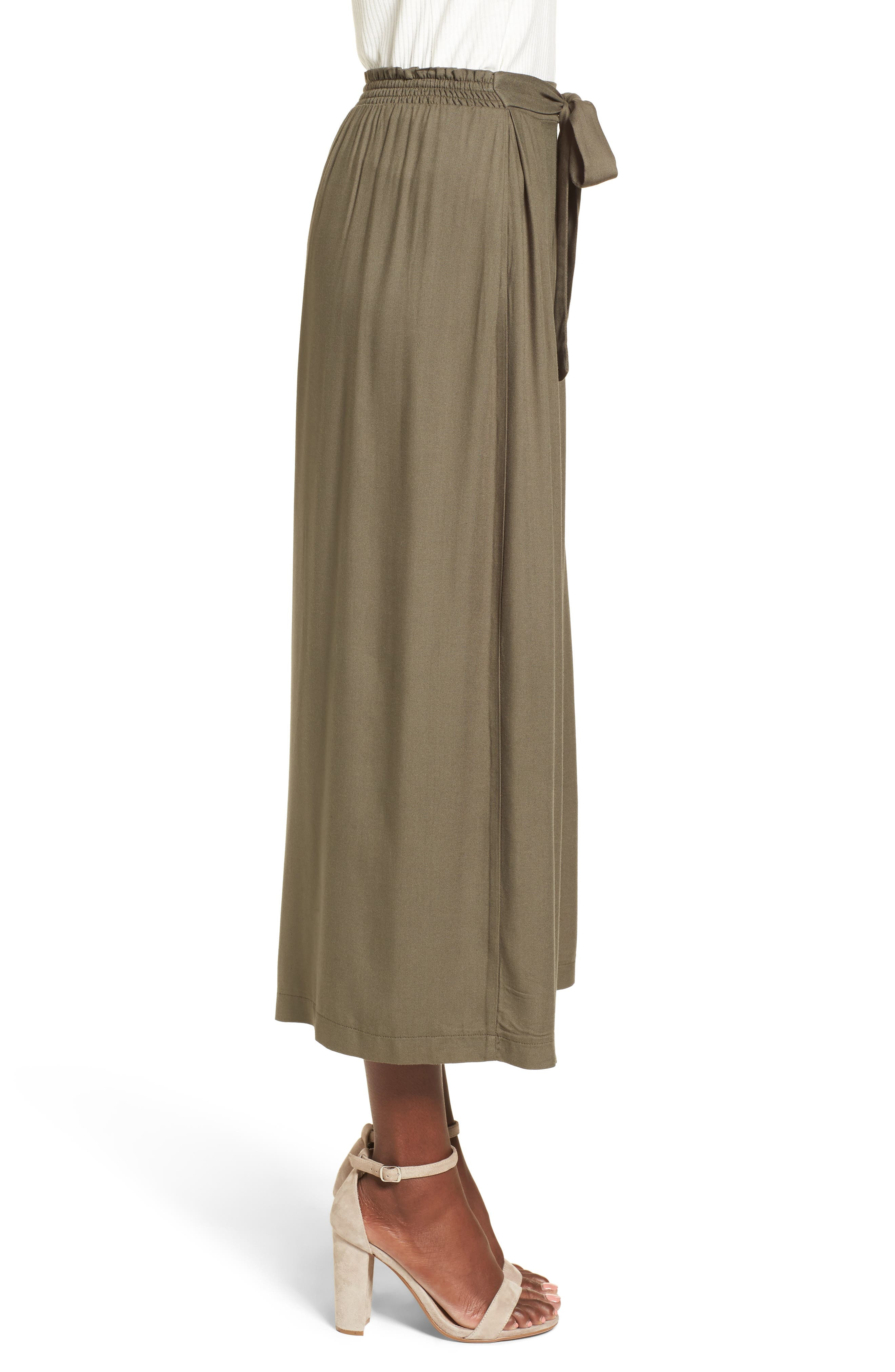 Tie Waist Wide Leg Pants,                             Alternate thumbnail 2, color,                             Olive Sarma