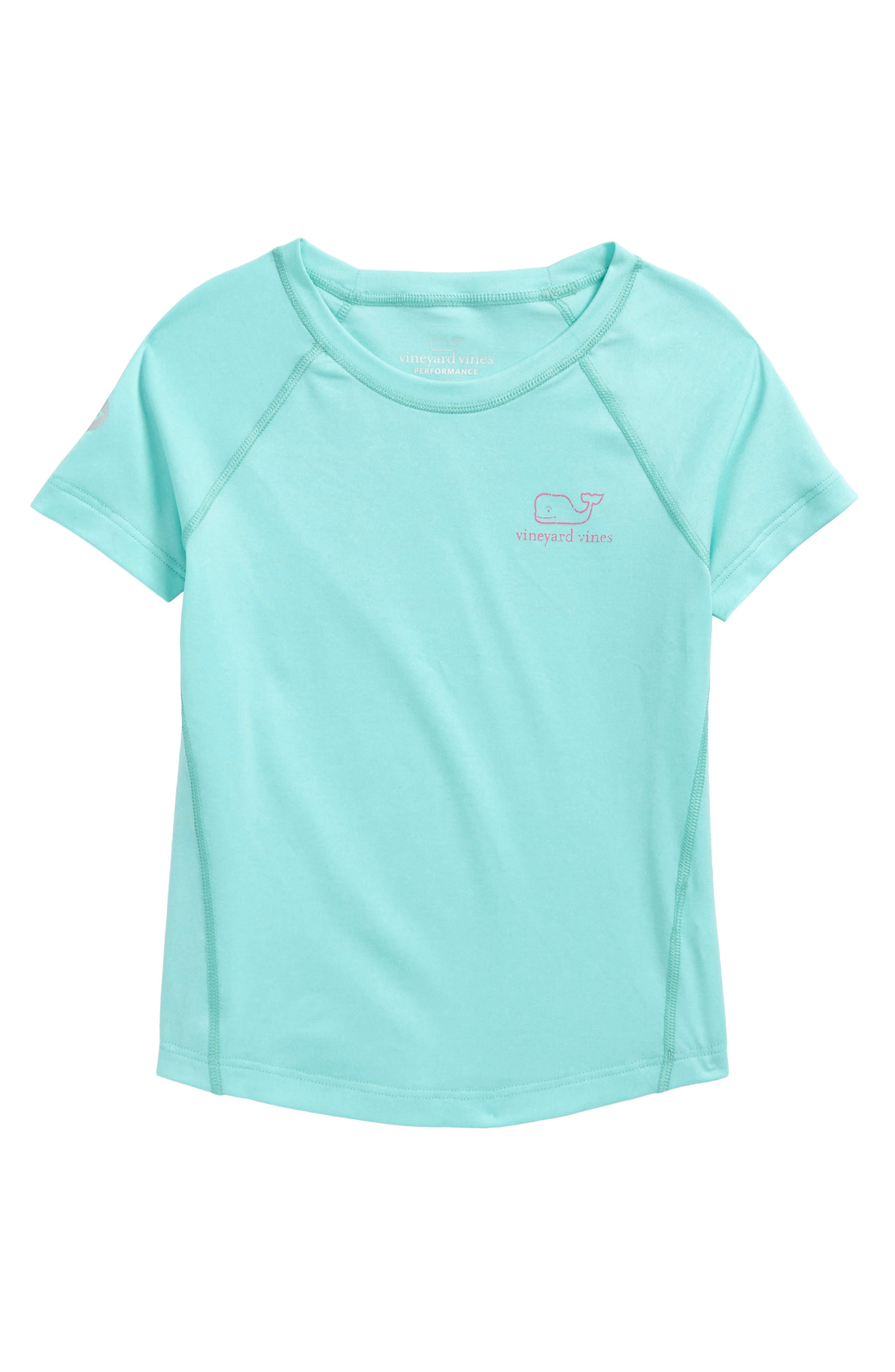 Main Image - vineyard vines Vintage Whale Performance Tee (Toddler Girls)