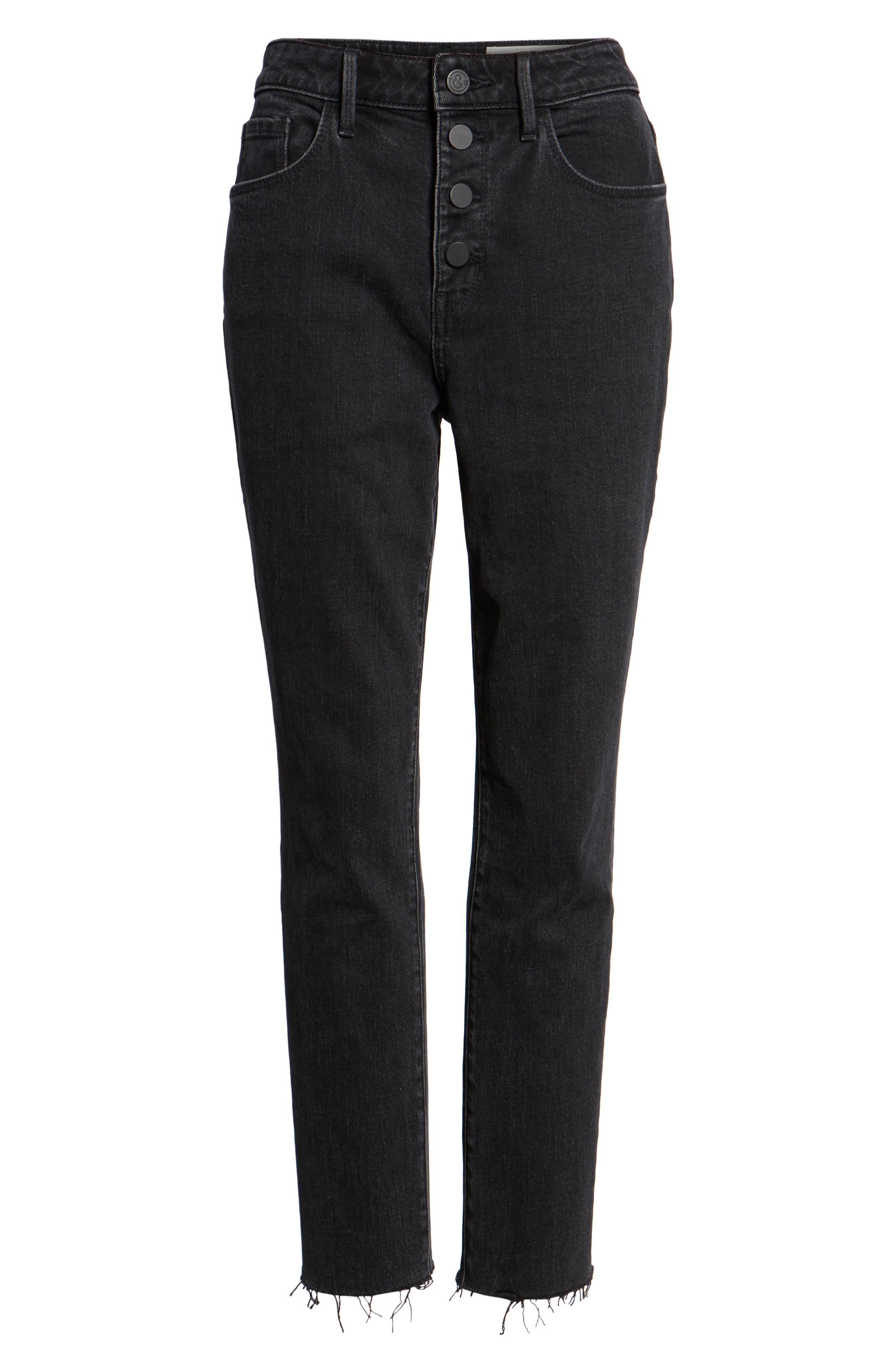 Alternate Image 7  - Treasure & Bond Bond Loose Fit Ankle Skinny Jeans (Black Dark Vintage)