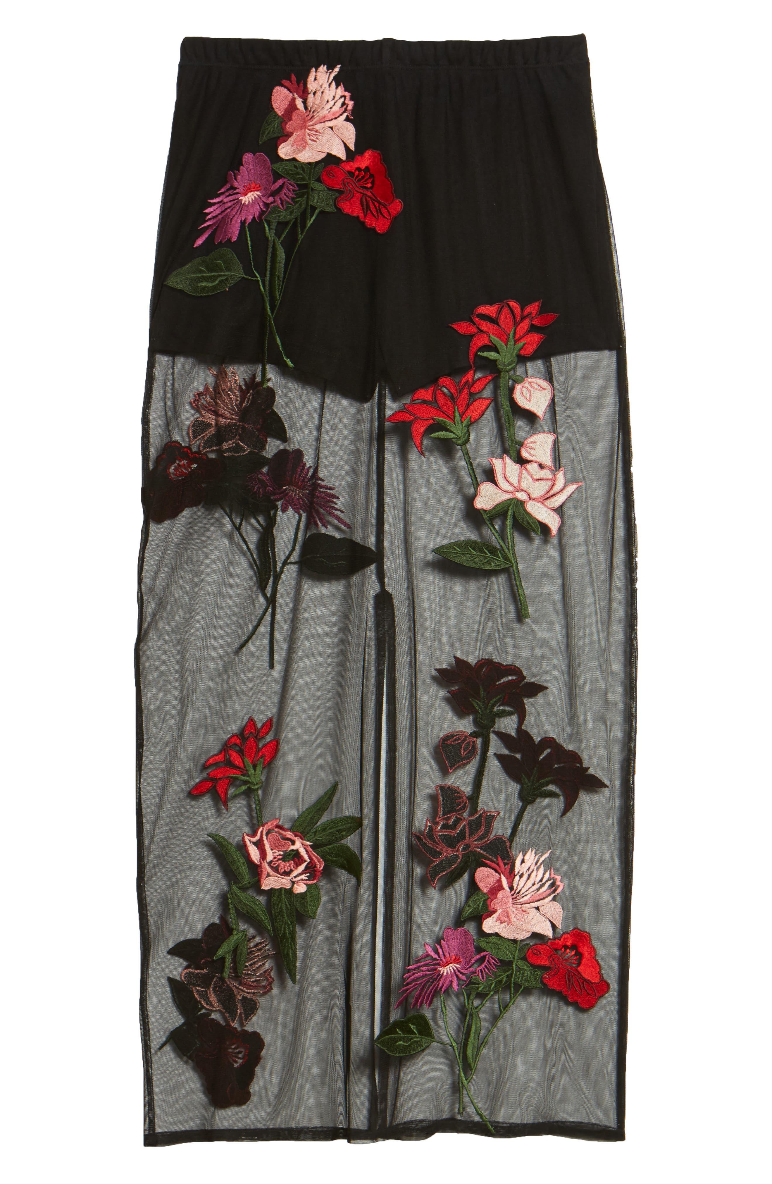 Farrow Midi Skirt,                             Alternate thumbnail 6, color,                             Black