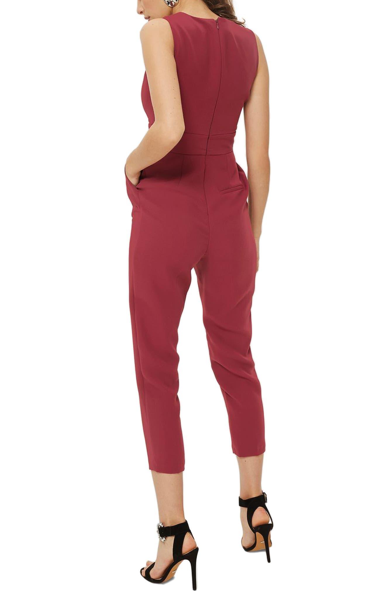 Alternate Image 2  - Topshop Amber Open Front Jumpsuit