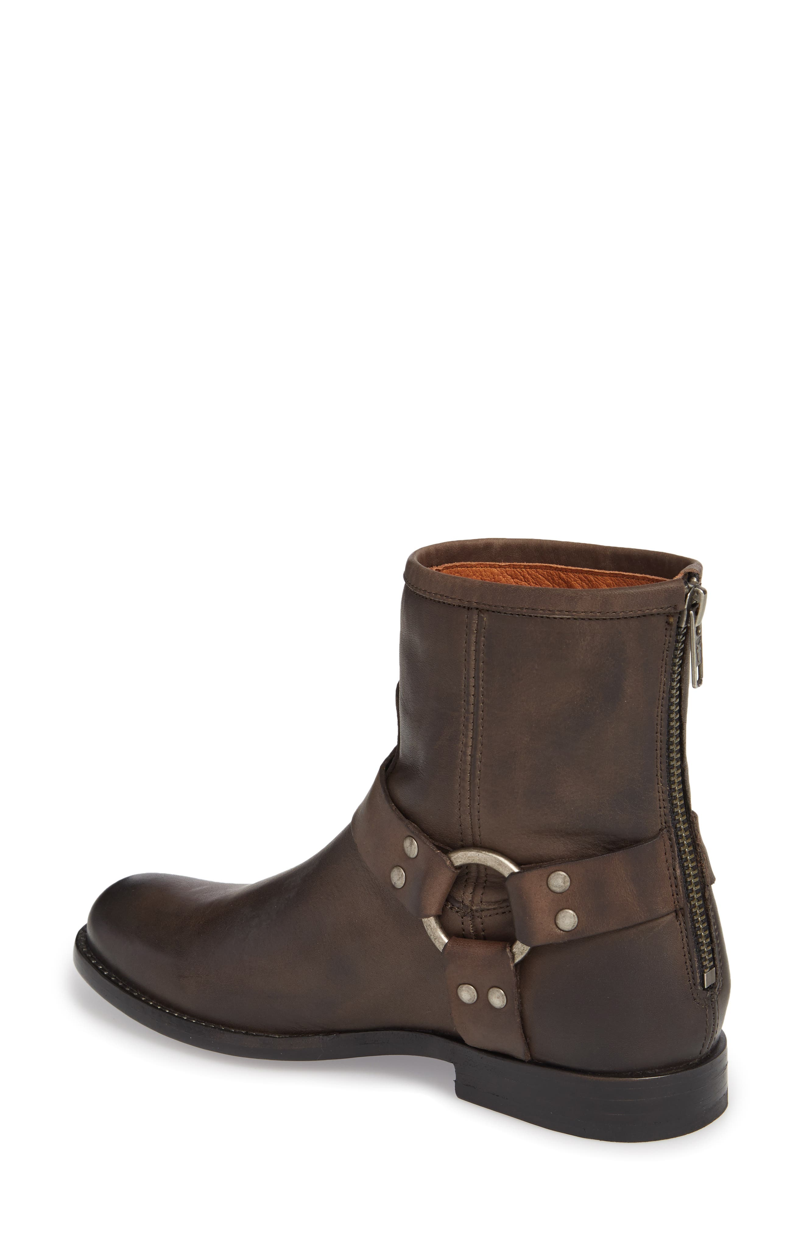 Phillip Harness Boot,                             Alternate thumbnail 2, color,                             Smoke Leather