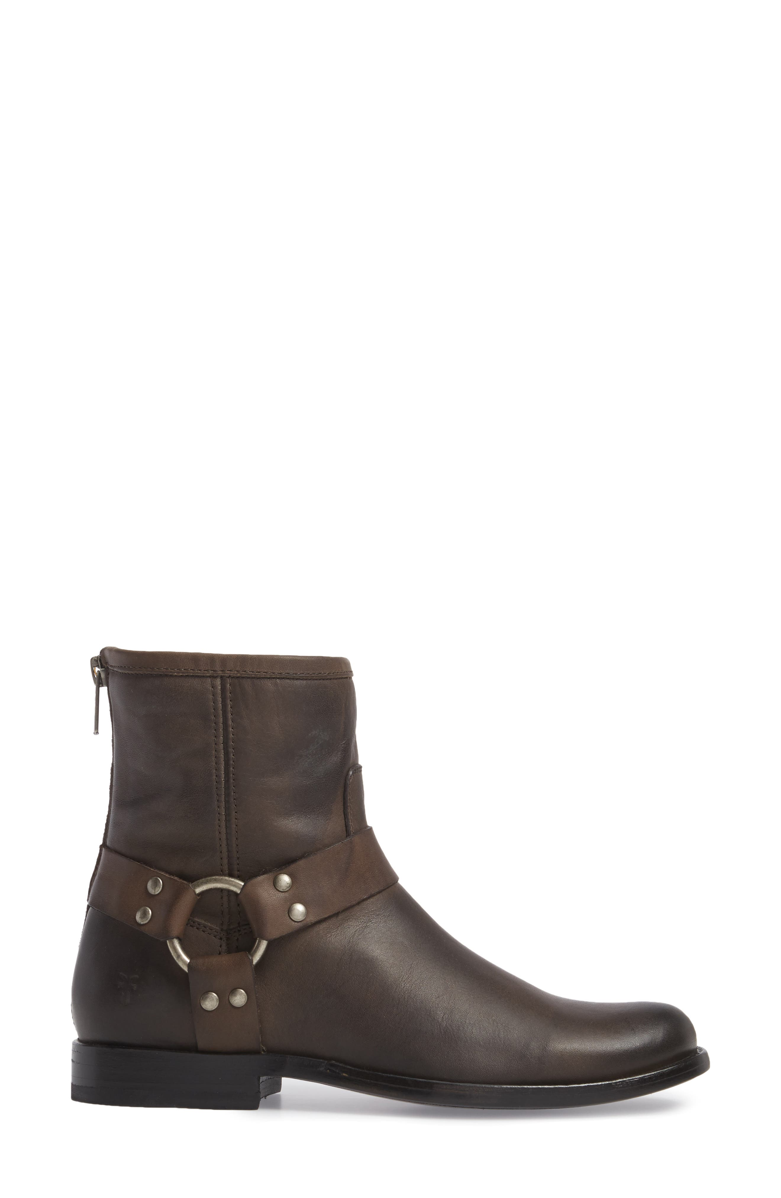 Phillip Harness Boot,                             Alternate thumbnail 3, color,                             Smoke Leather