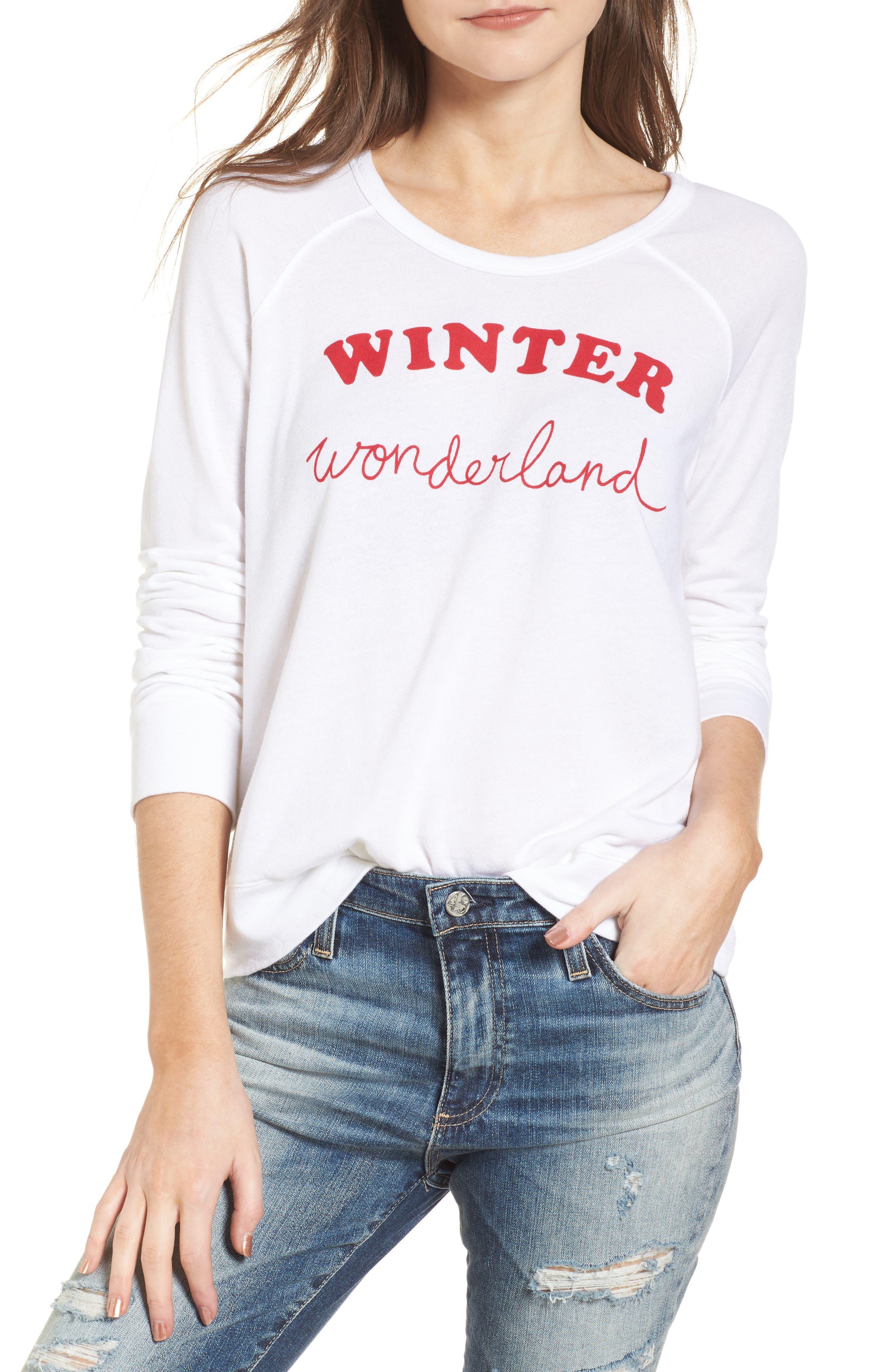 Winter Wonderland Sweatshirt,                         Main,                         color, White