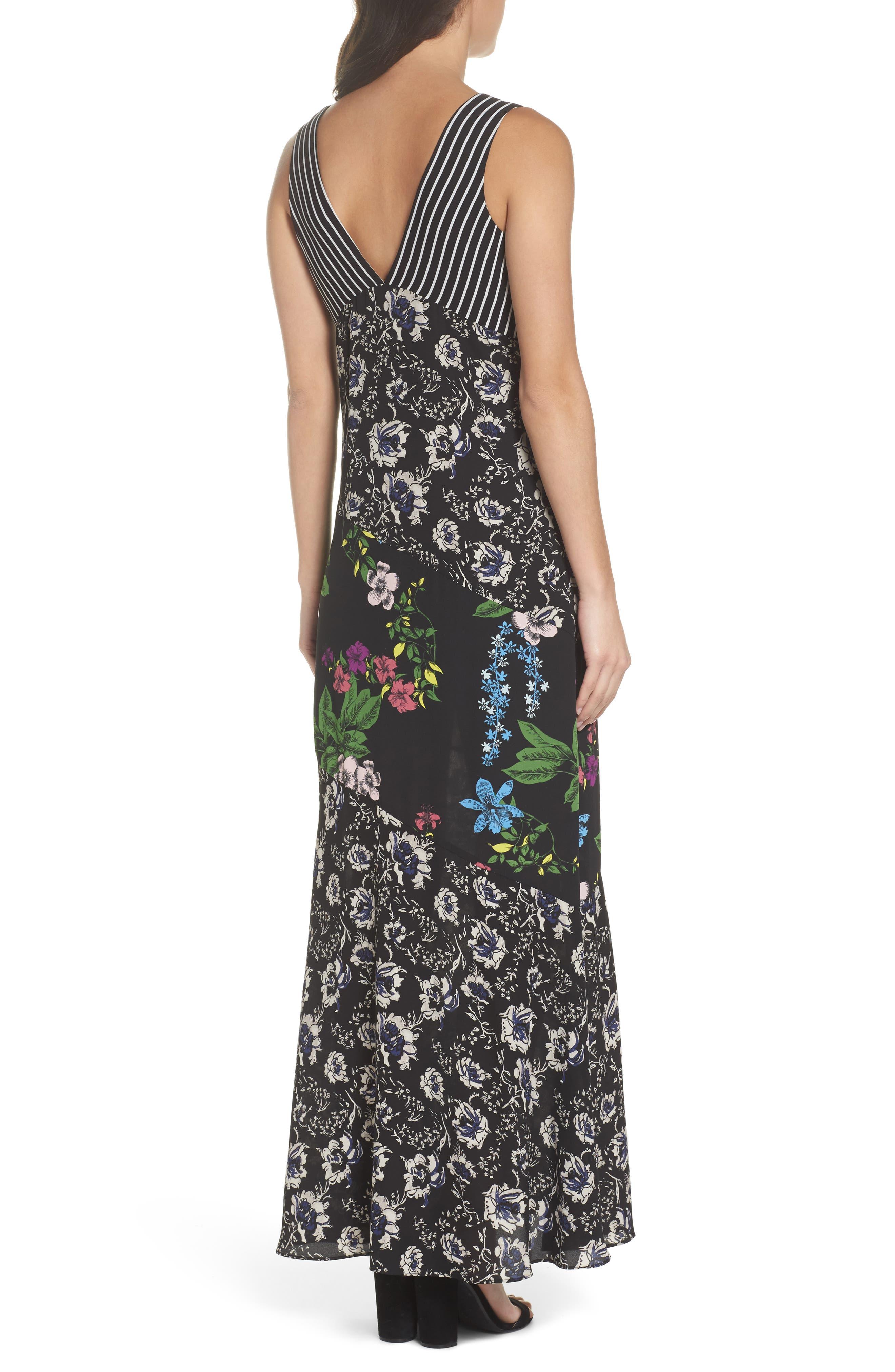 Floral Maxi Dress,                             Alternate thumbnail 2, color,                             Multi Botanical