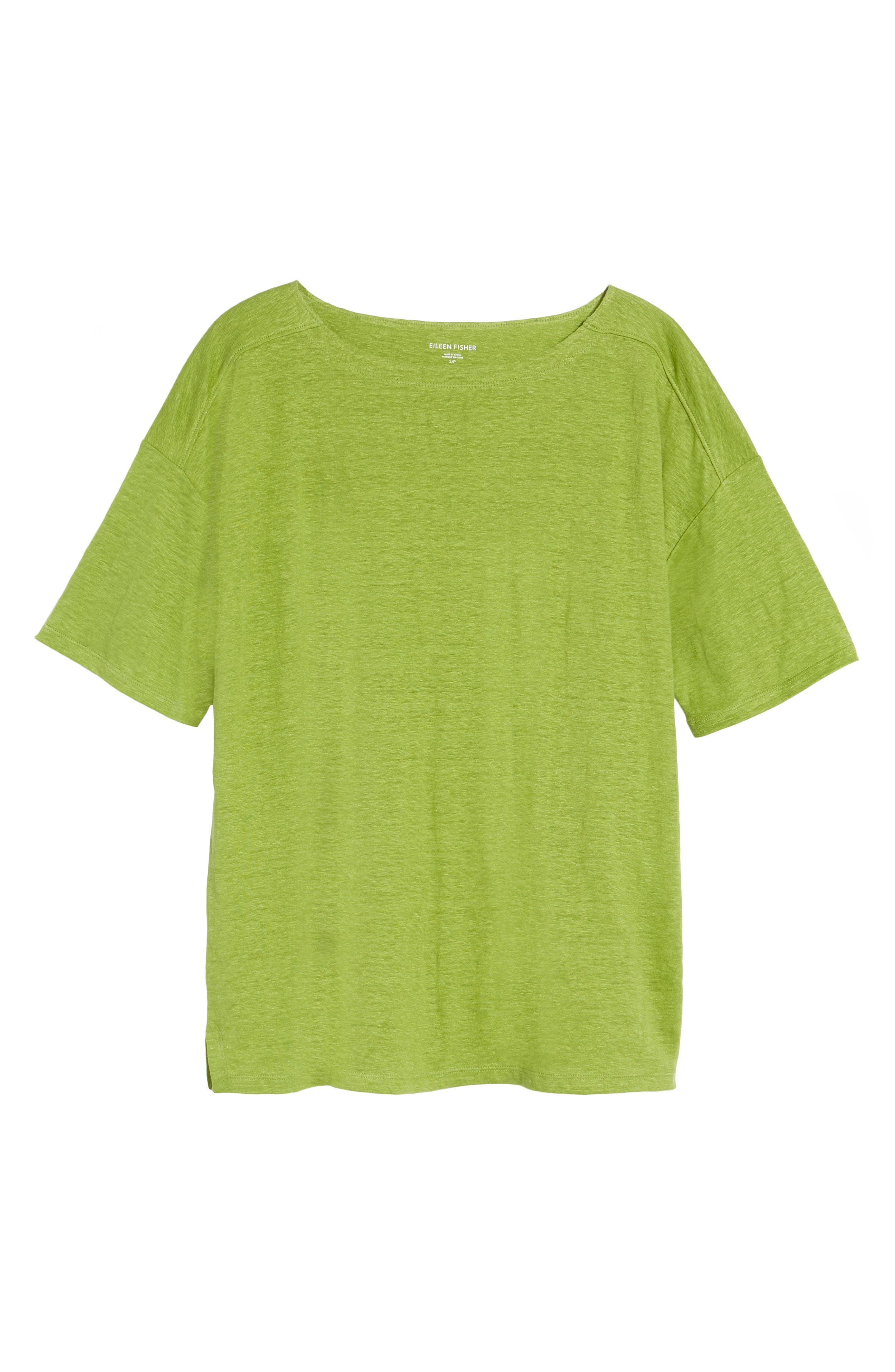 Alternate Image 6  - Eileen Fisher Slouchy Organic Linen Top