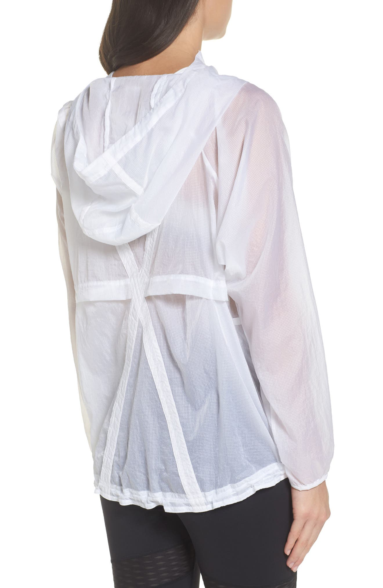 Packable Parachute Anorak,                             Alternate thumbnail 2, color,                             White