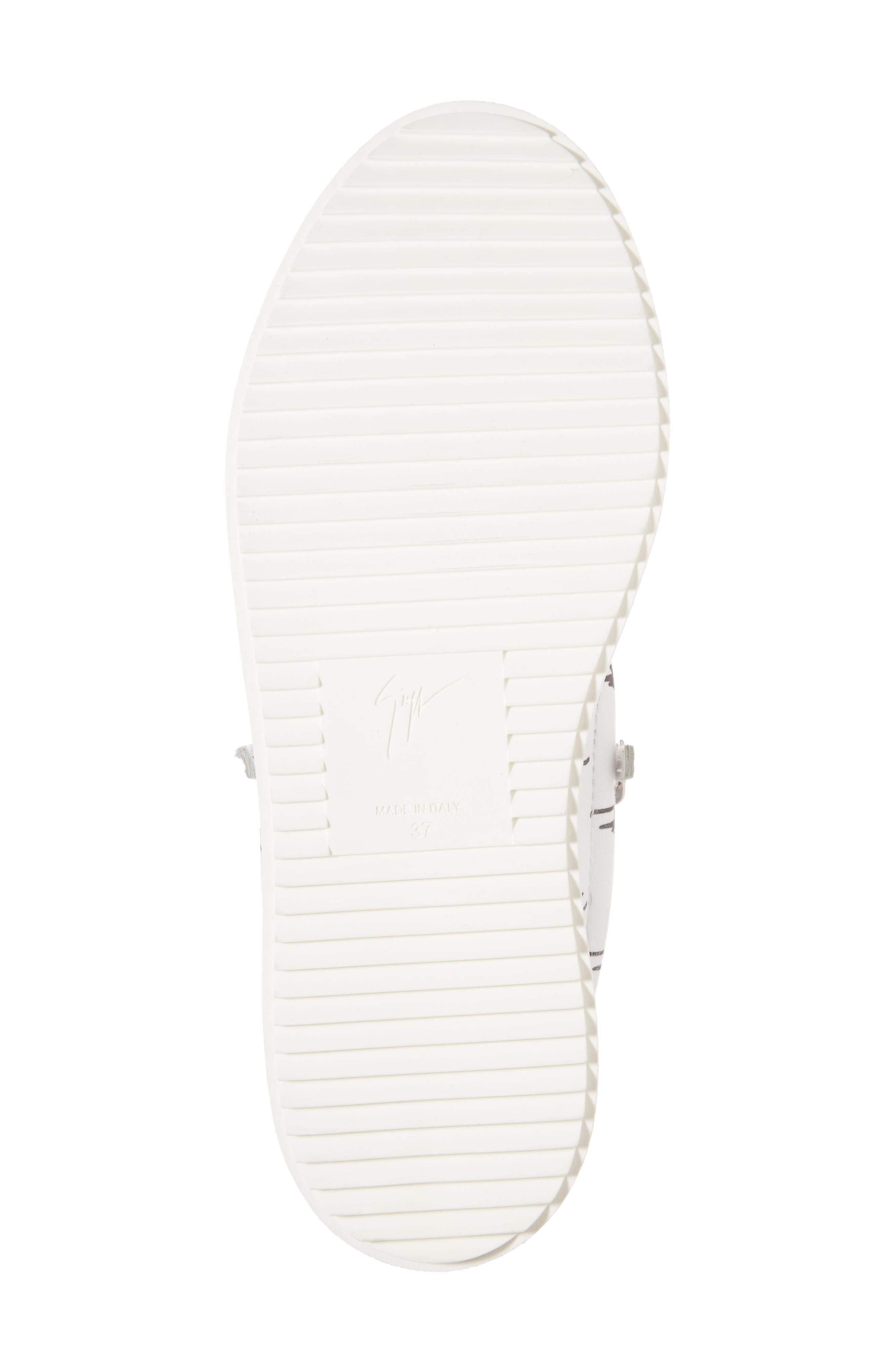 Maylondon Logo Sneaker,                             Alternate thumbnail 6, color,                             White/ Black