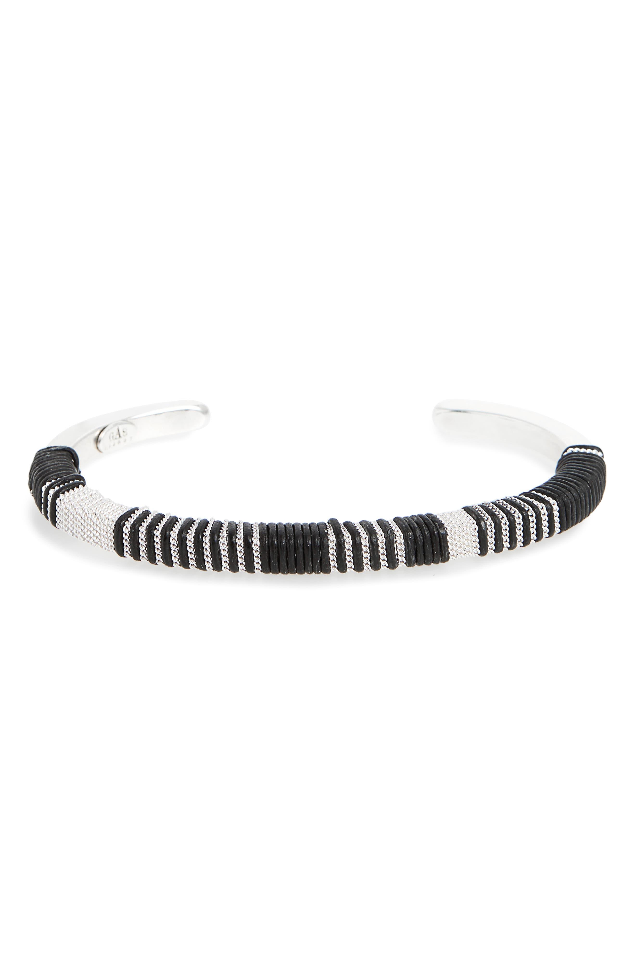Tomboy Cuff Bracelet,                         Main,                         color, Black
