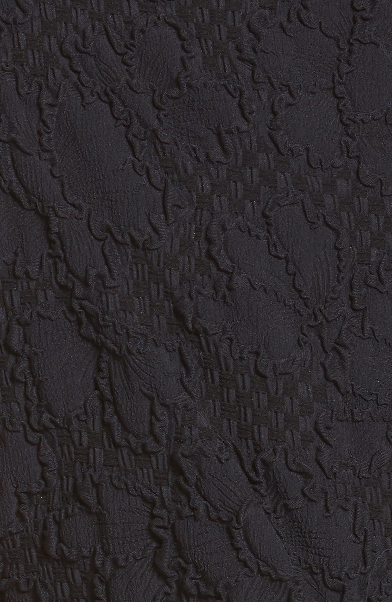 Medina Floral Jacquard Sheath Dress,                             Alternate thumbnail 5, color,                             Black