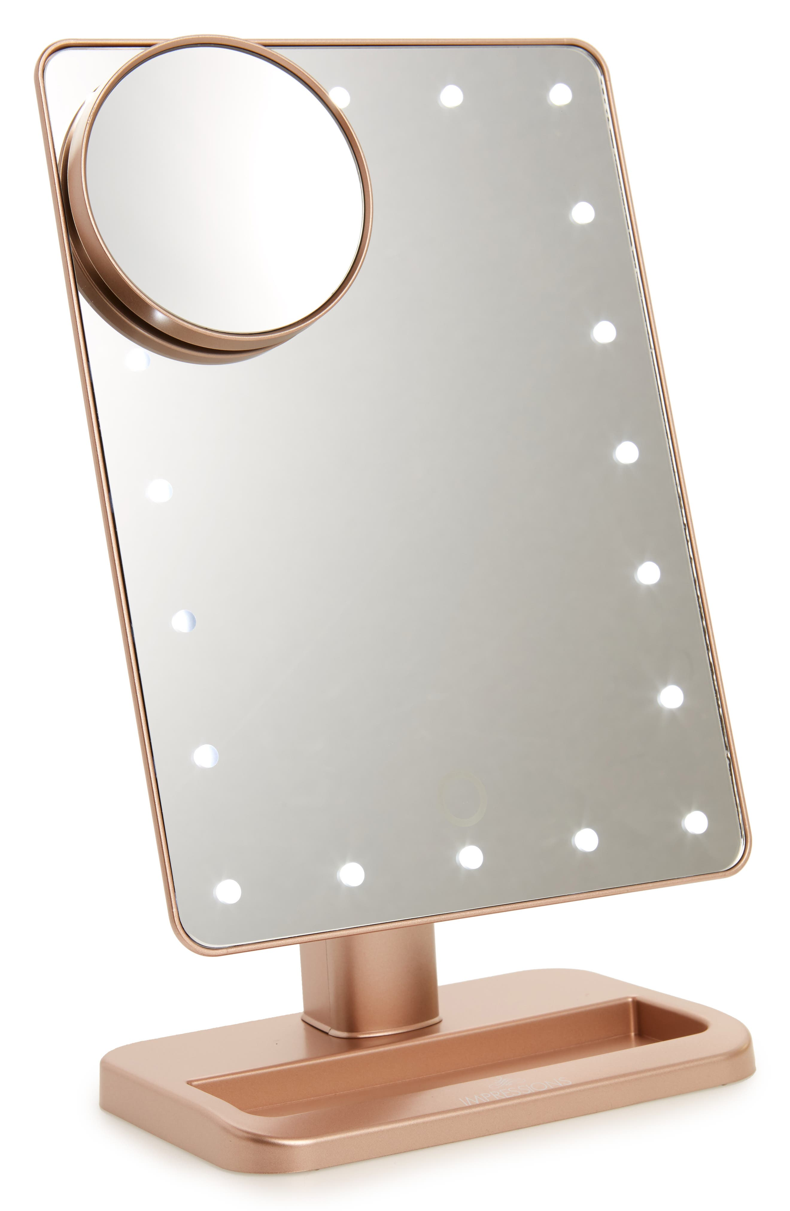 Alternate Image 1 Selected - Impressions Vanity Co. Touch XL Dimmable LED Makeup Mirror with Removable 5x Mirror