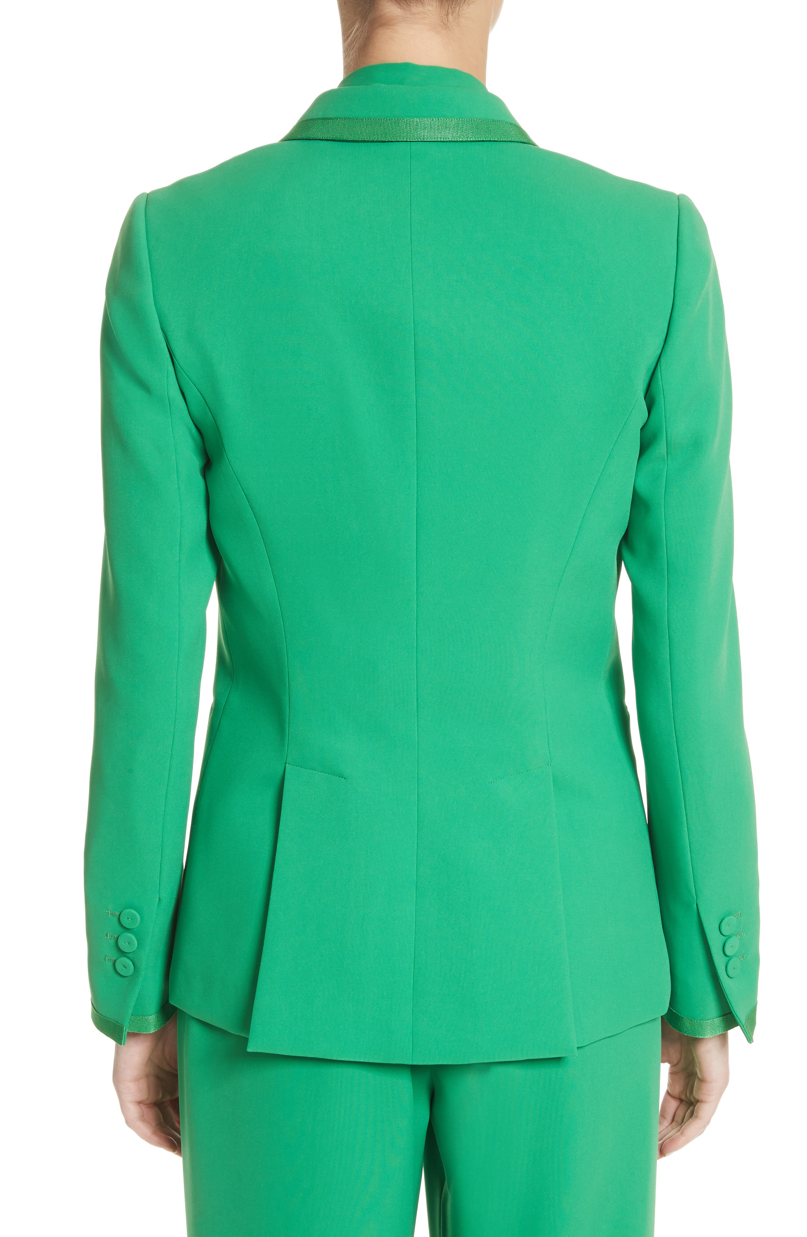 Double Breasted Blazer,                             Alternate thumbnail 3, color,                             Green