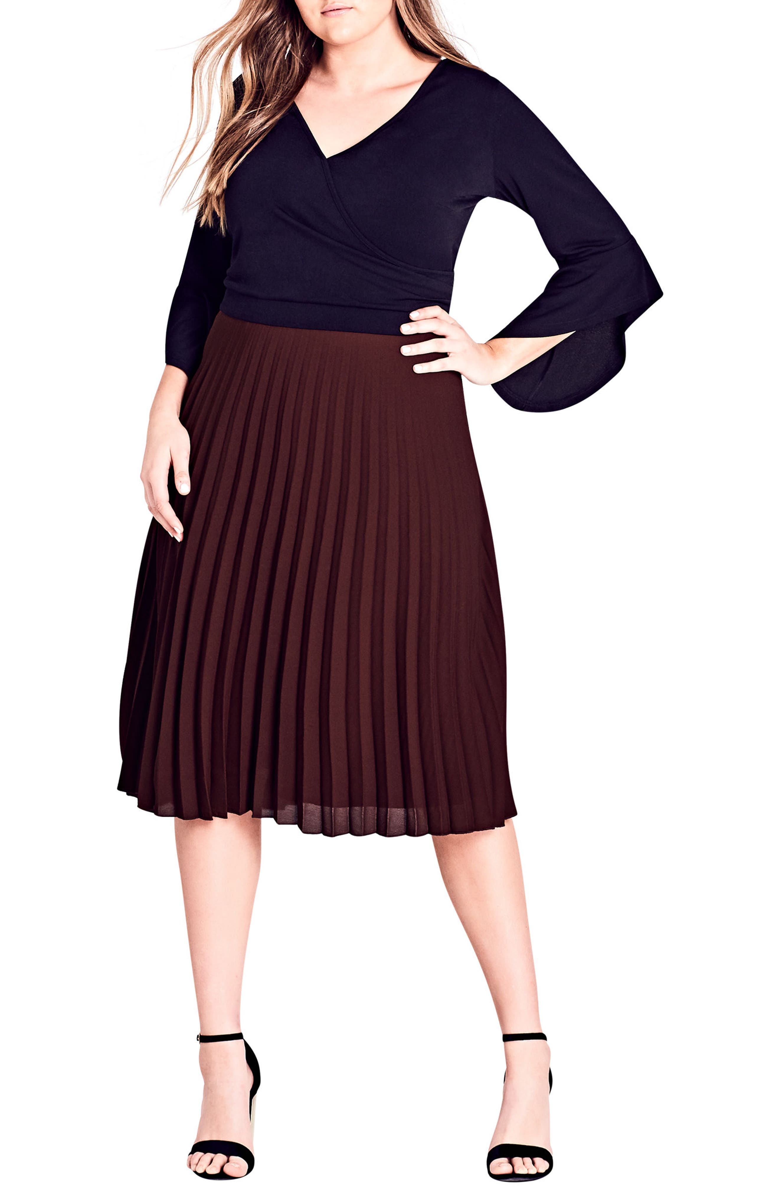 Main Image - City Chic Cascade Sleeve Top (Plus Size)