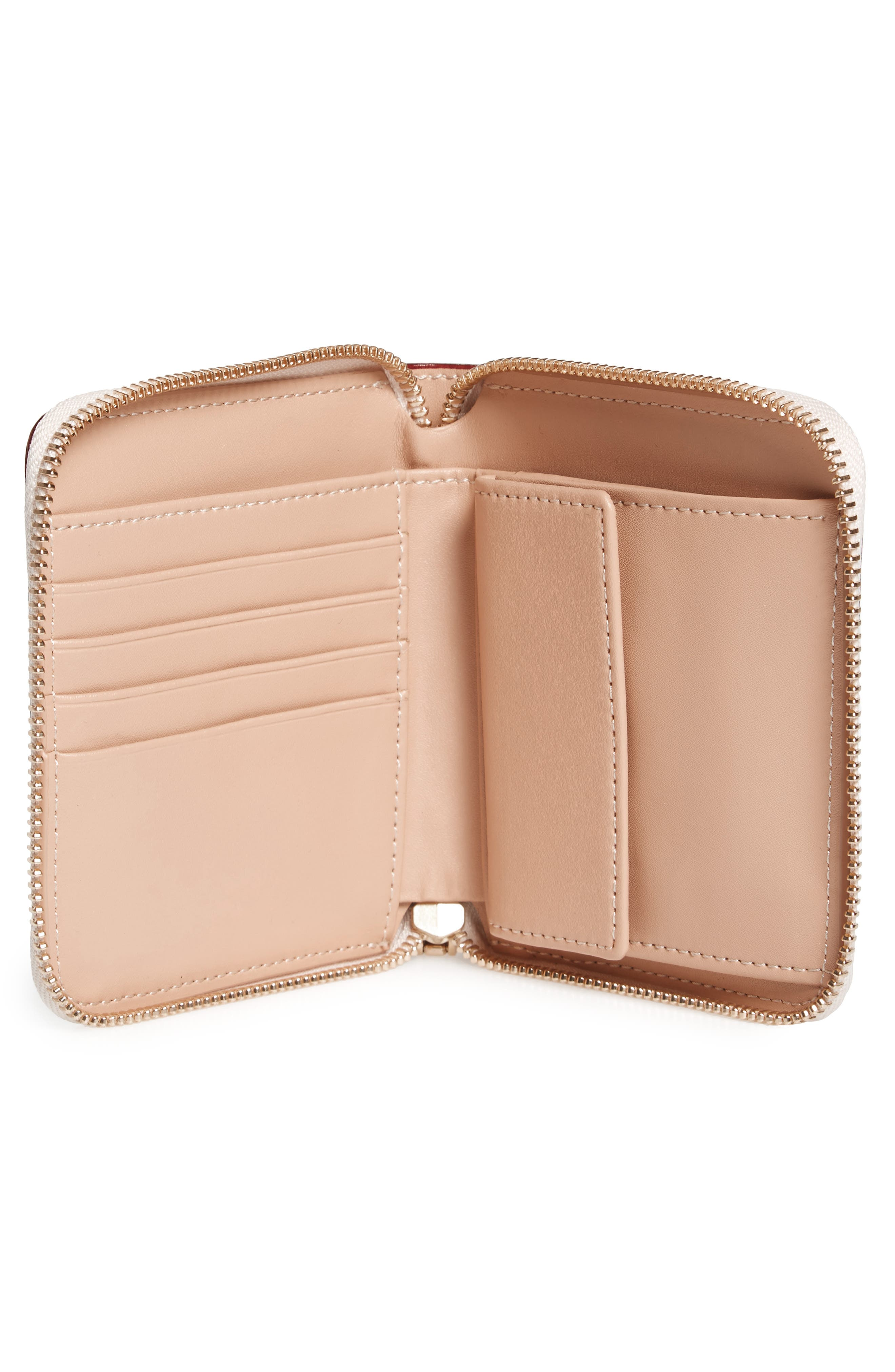 Small Roosevelt Calfskin Leather Wallet,                             Alternate thumbnail 2, color,                             Oyster