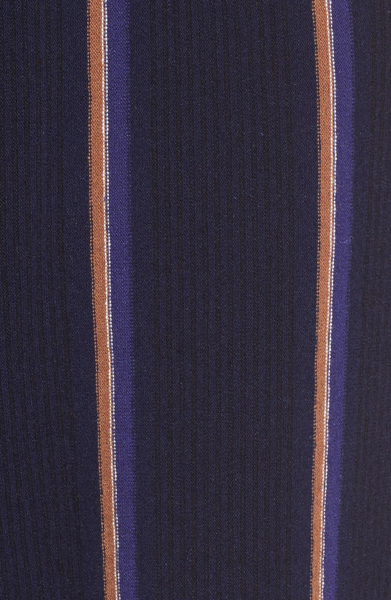 Lined Up Knit Pants,                             Alternate thumbnail 6, color,                             Blue Multi