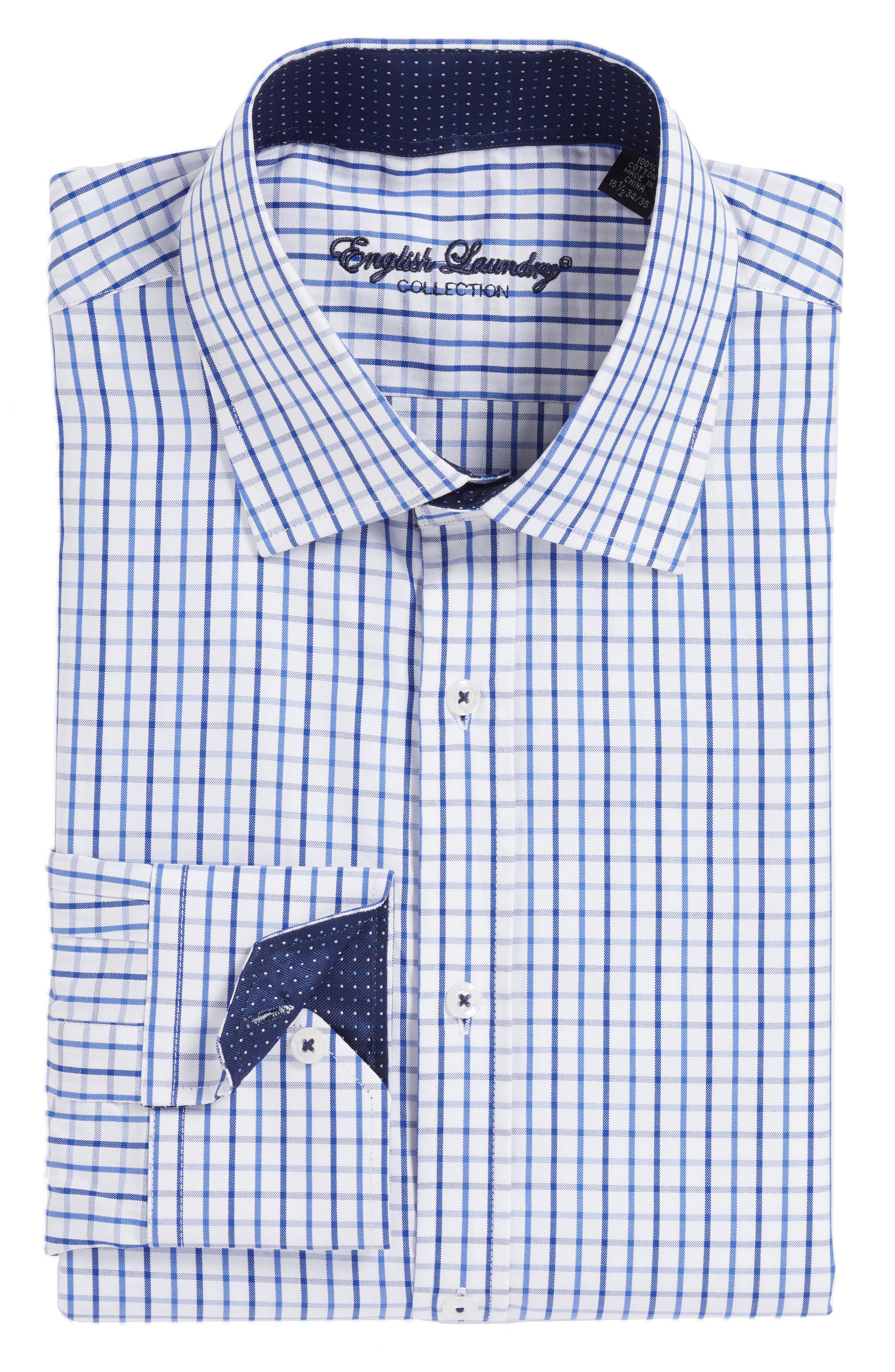 Main Image - English Laundry Trim Fit Check Dress Shirt