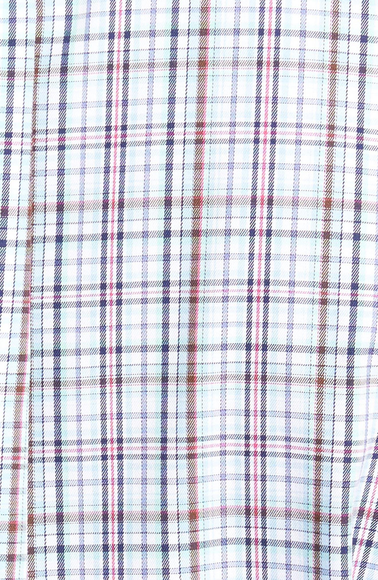 Crown Ease Tango Pinwheel Regular Fit Sport Shirt,                             Alternate thumbnail 5, color,                             Tar Heel Blue