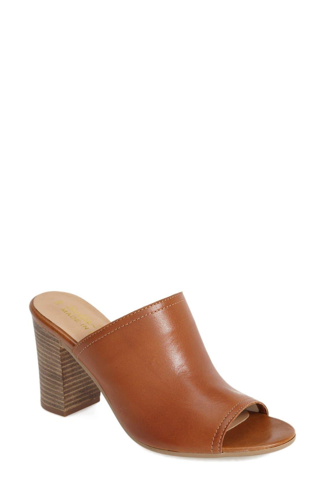 'Arno' Leather Mule,                         Main,                         color, Tan