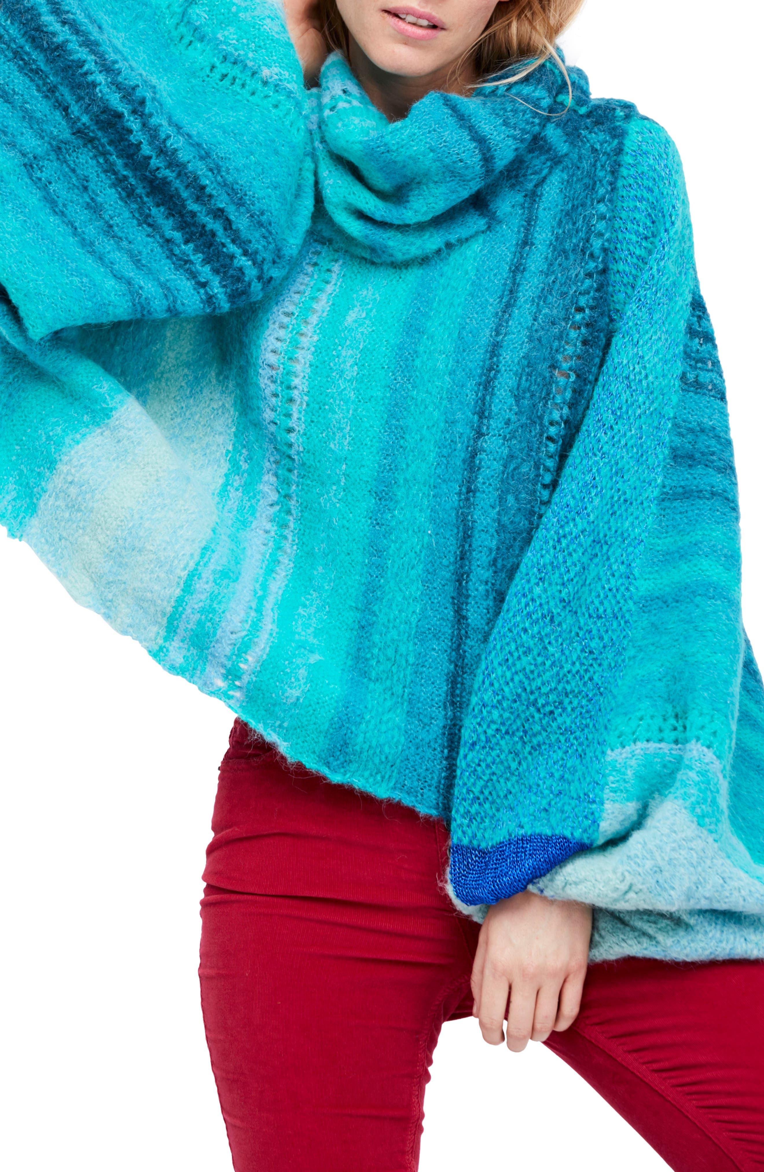 Cloud Kicker Sweater,                             Main thumbnail 1, color,                             Blue Combo
