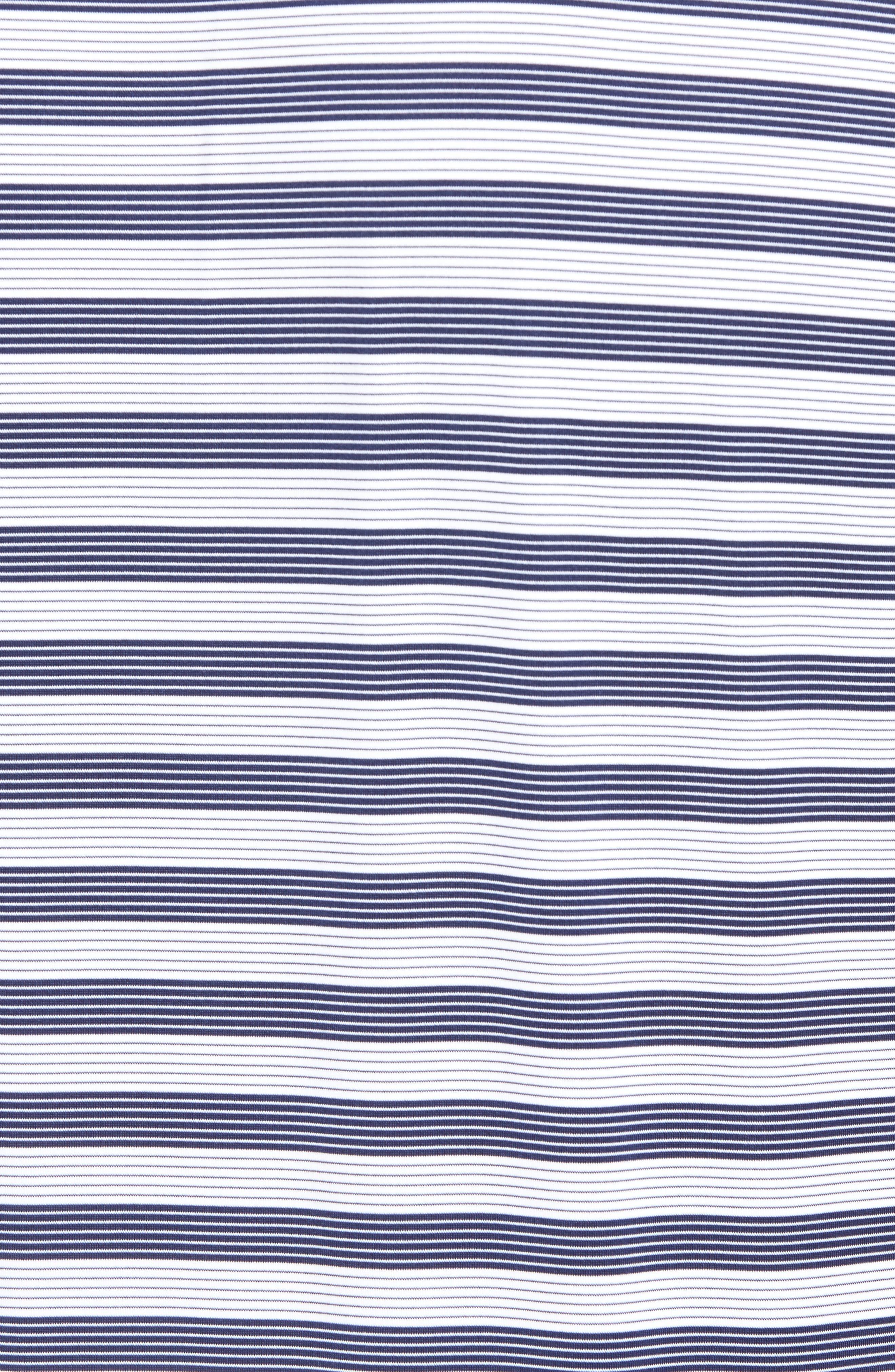 XH2O Del Mar Stripe Jersey Polo,                             Alternate thumbnail 5, color,                             Summer Navy