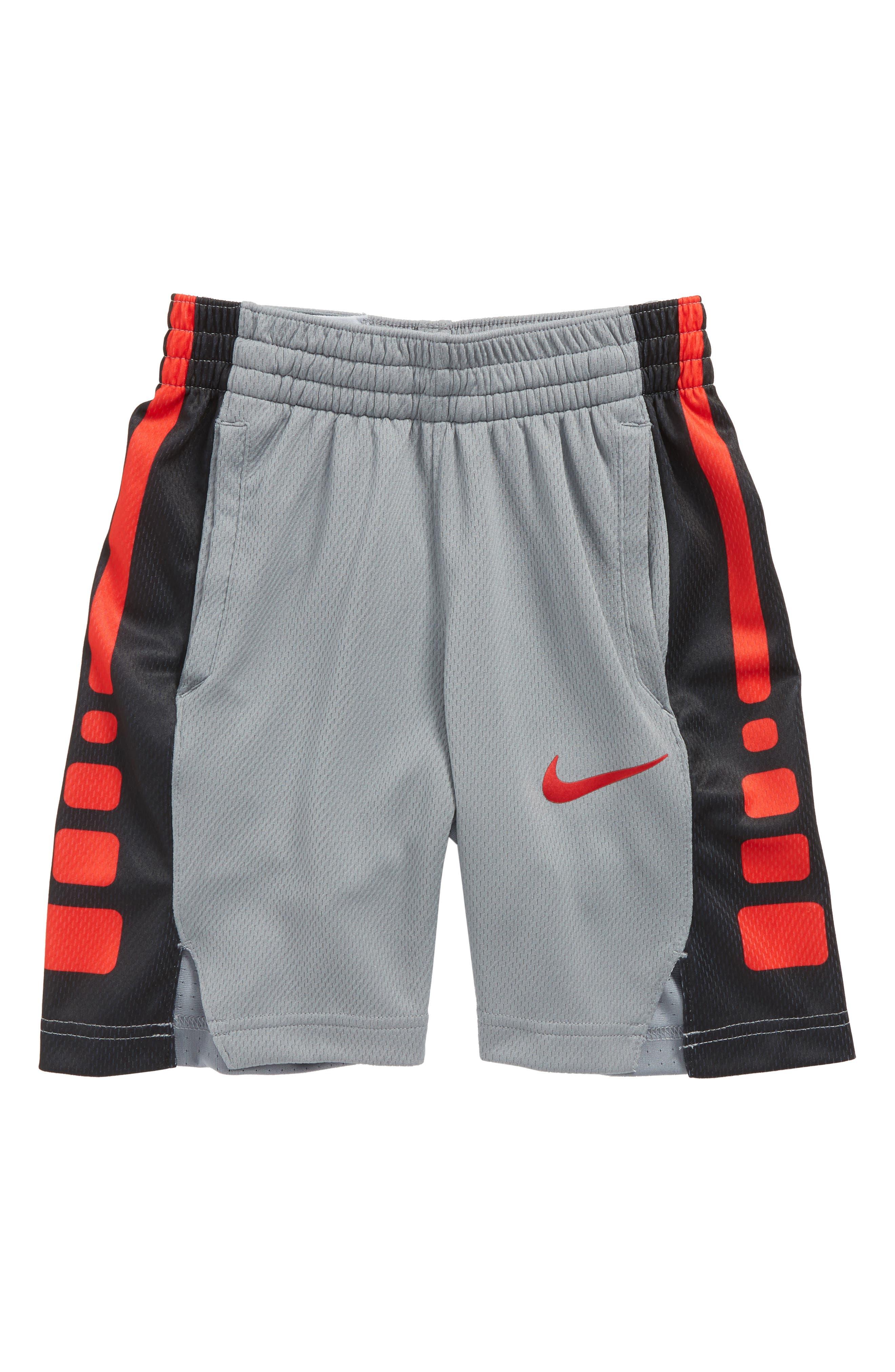 Dry Elite Basketball Shorts,                         Main,                         color, Grey