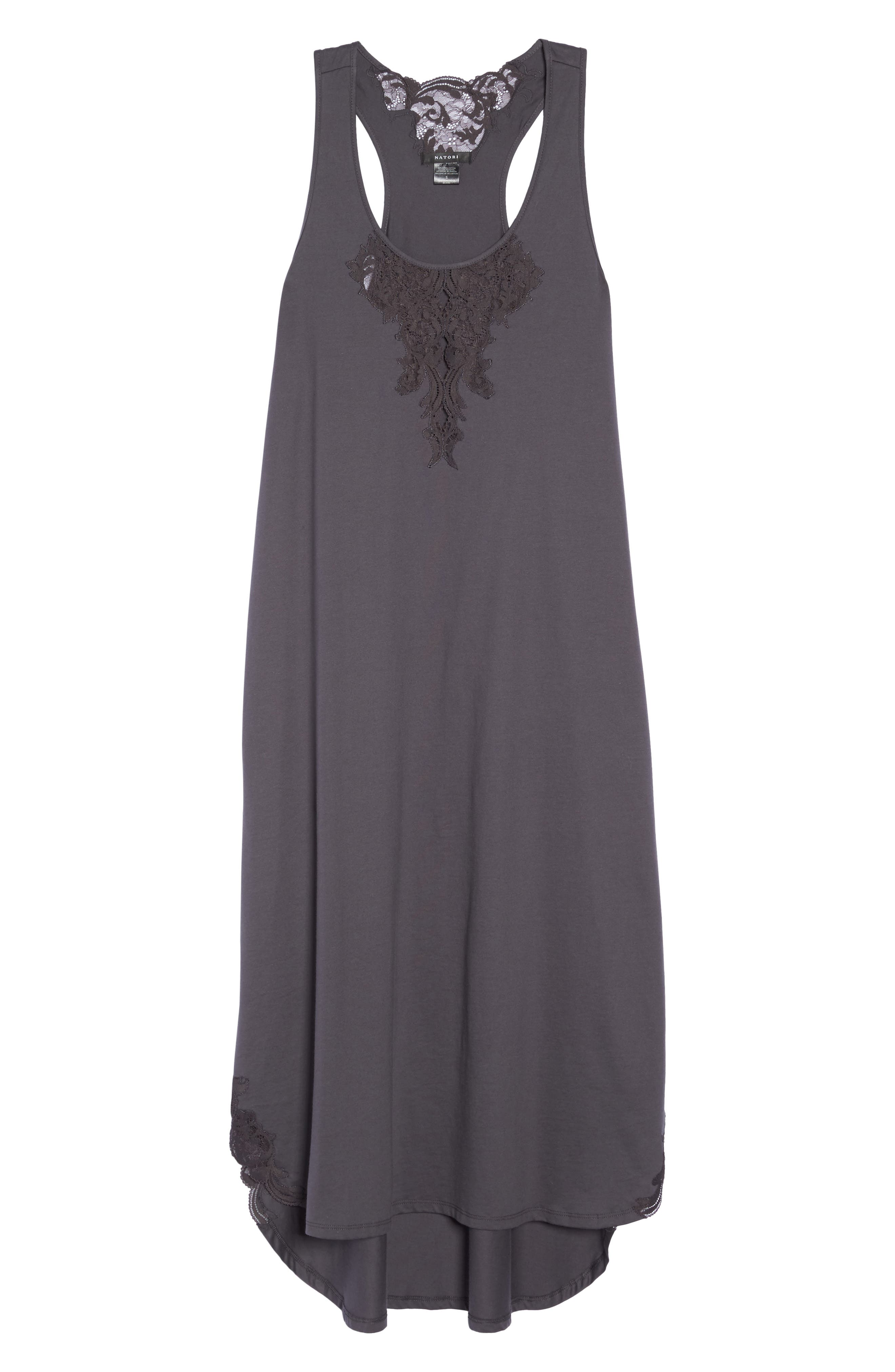Bliss Supima<sup>®</sup> Cotton Nightgown,                             Alternate thumbnail 6, color,                             Graphite