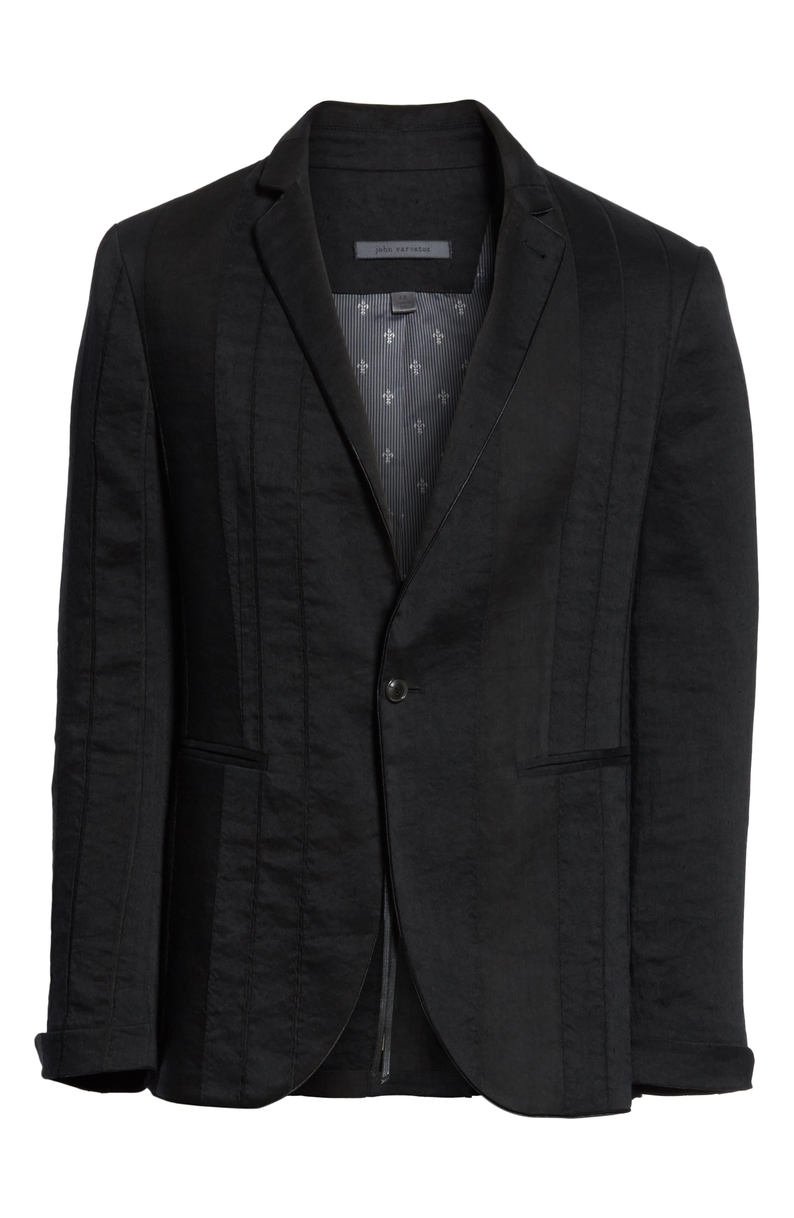Alternate Image 6  - John Varvatos Collection Slim Fit Linen Blend Blazer