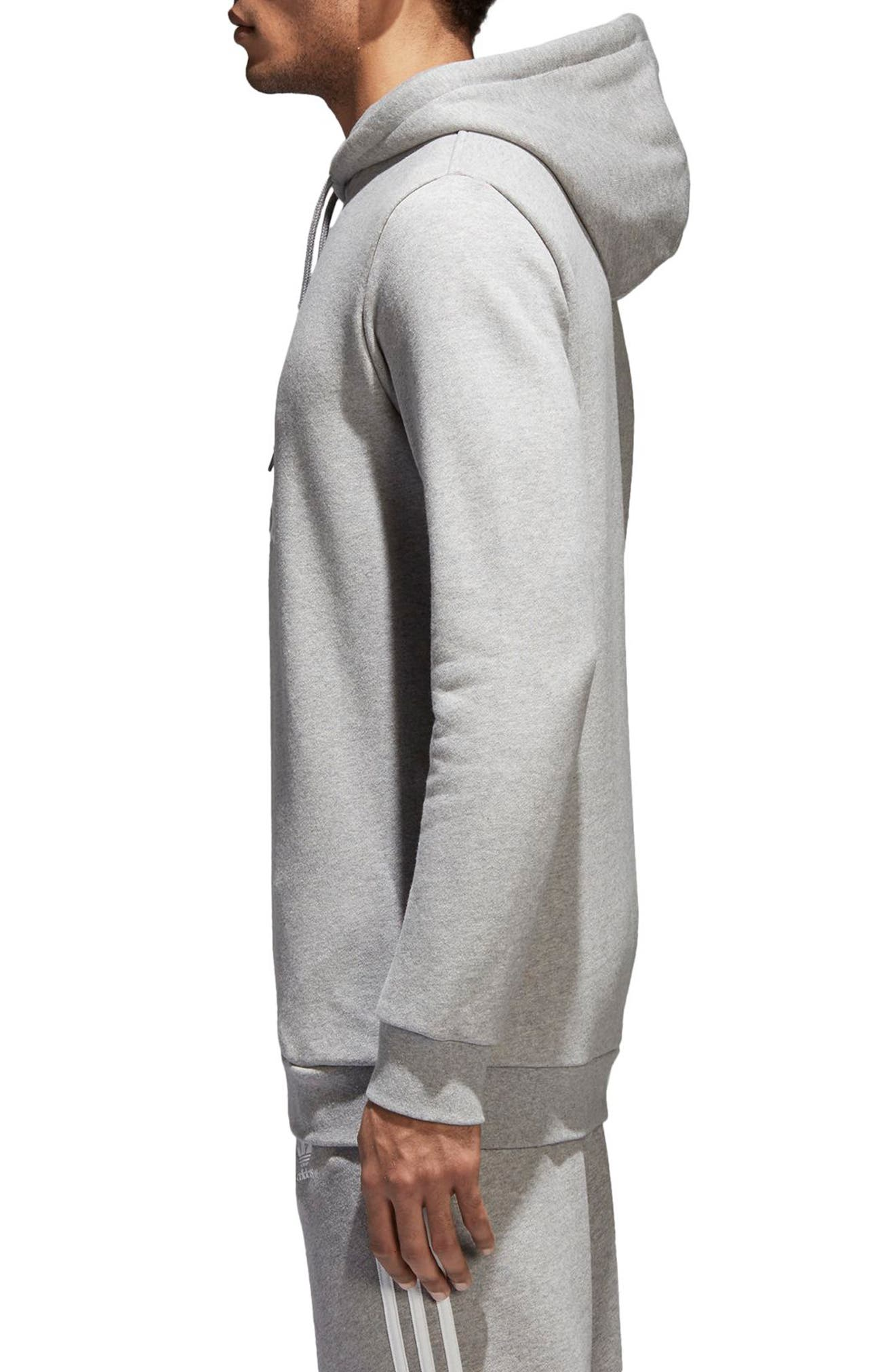 Trefoil Warm-Up Hoodie,                             Alternate thumbnail 3, color,                             Med Grey Hthr