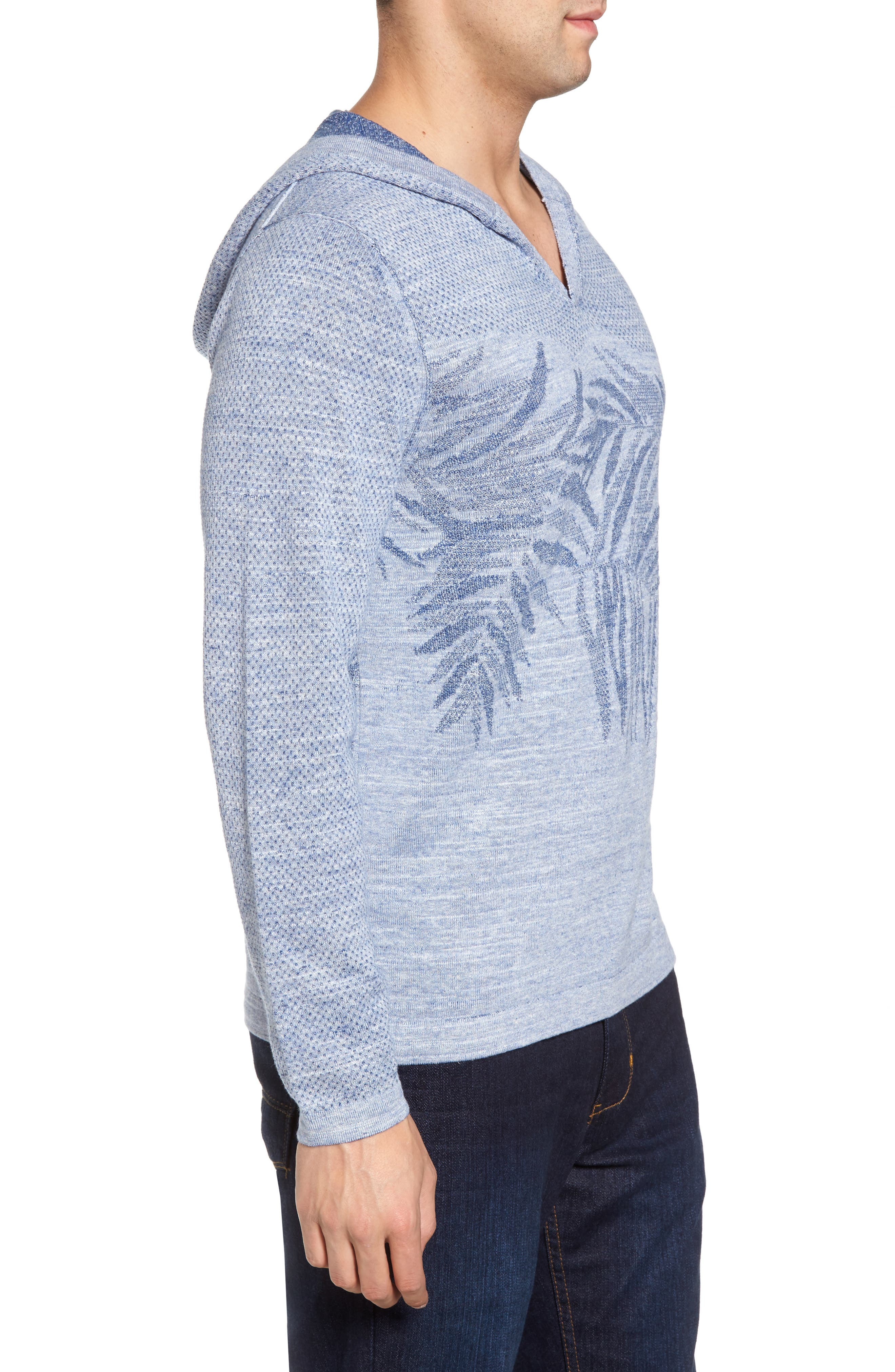 Palmetto Hooded Pullover,                             Alternate thumbnail 3, color,                             Galaxy Blue Heather