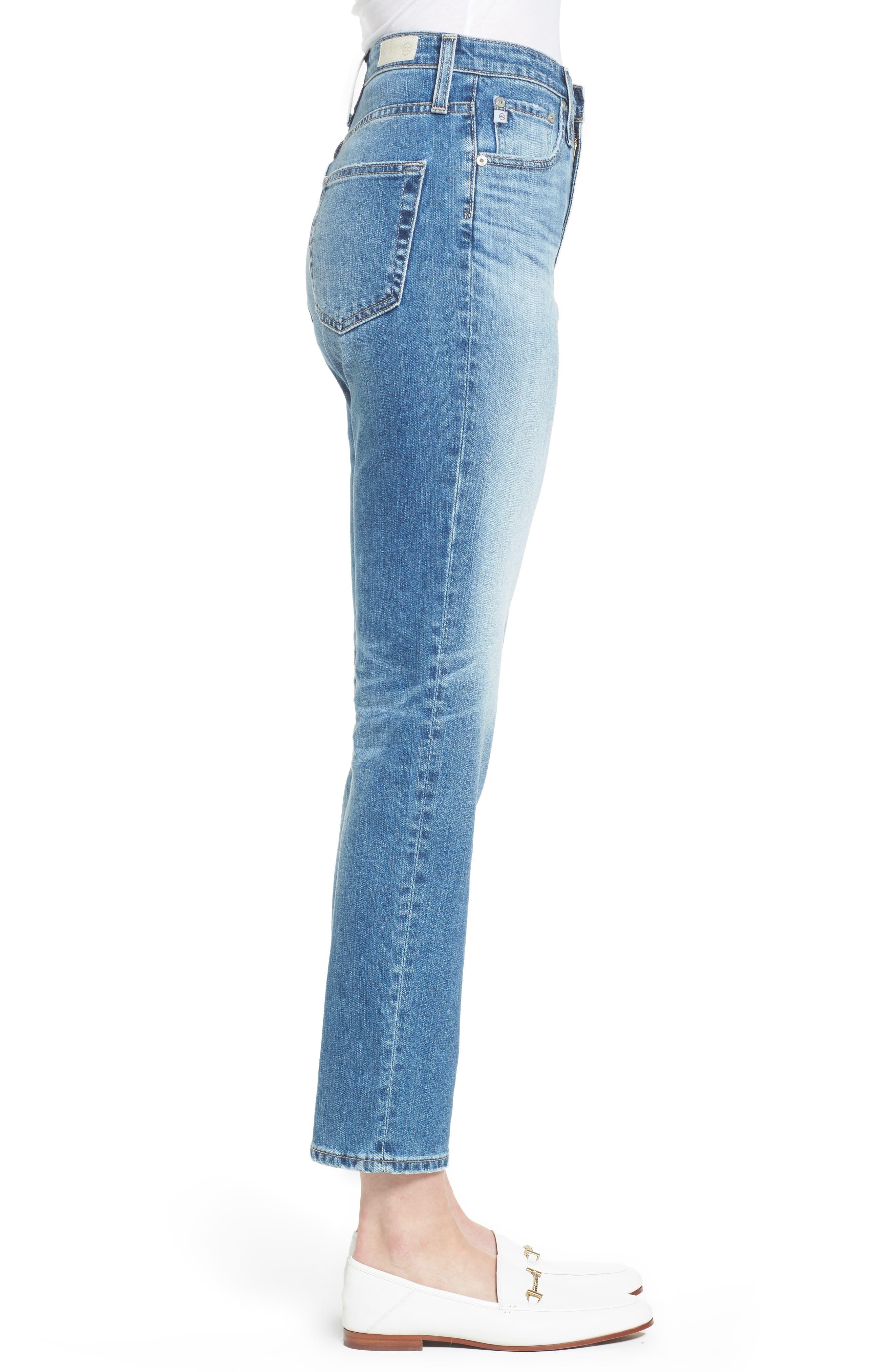 Alternate Image 3  - AG 'The Phoebe' Vintage High Rise Straight Leg Jeans (16 Years Indigo Deluge)