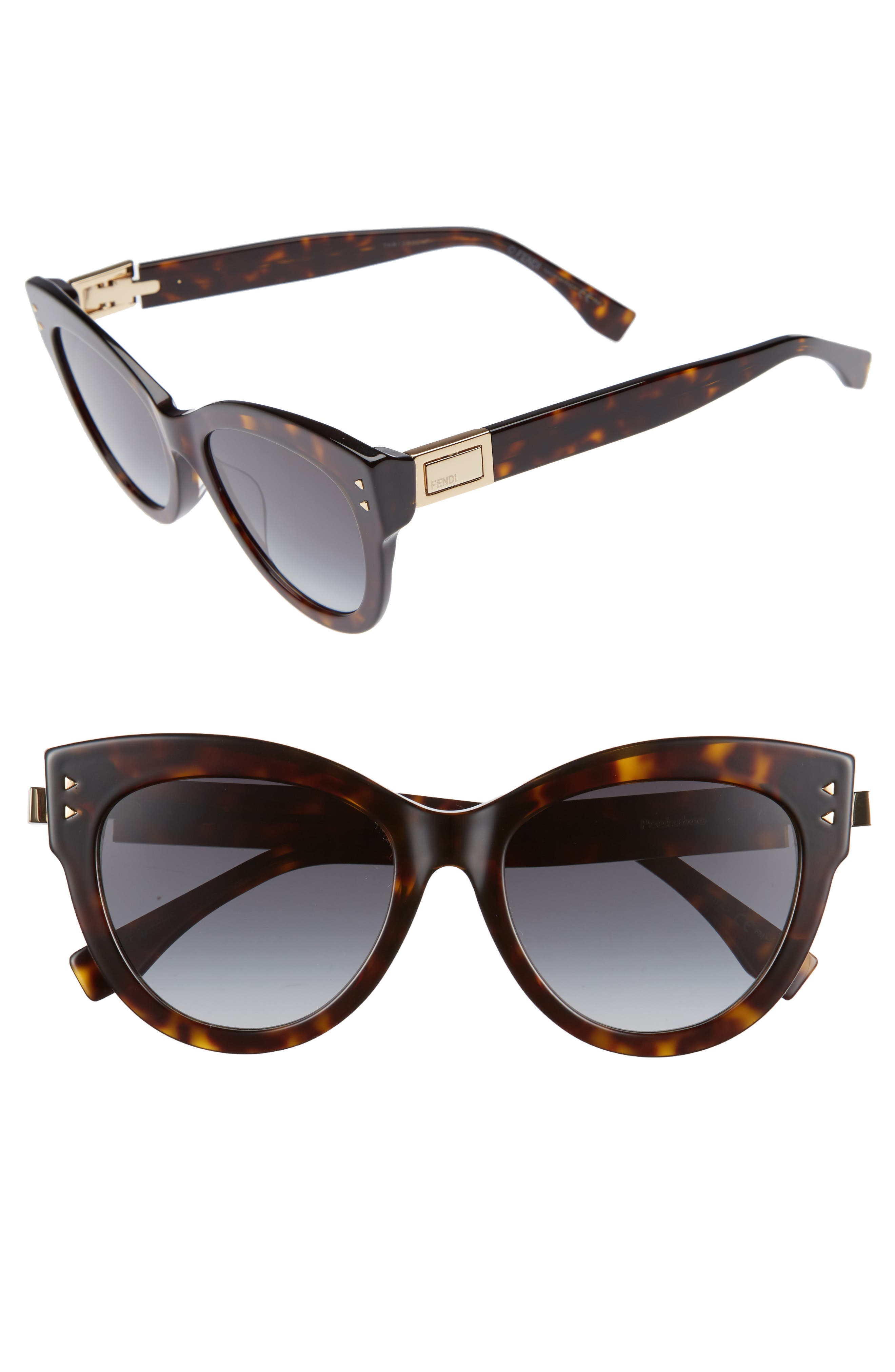 Alternate Image 1 Selected - Fendi 54mm Special Fit Cat Eye Sunglasses