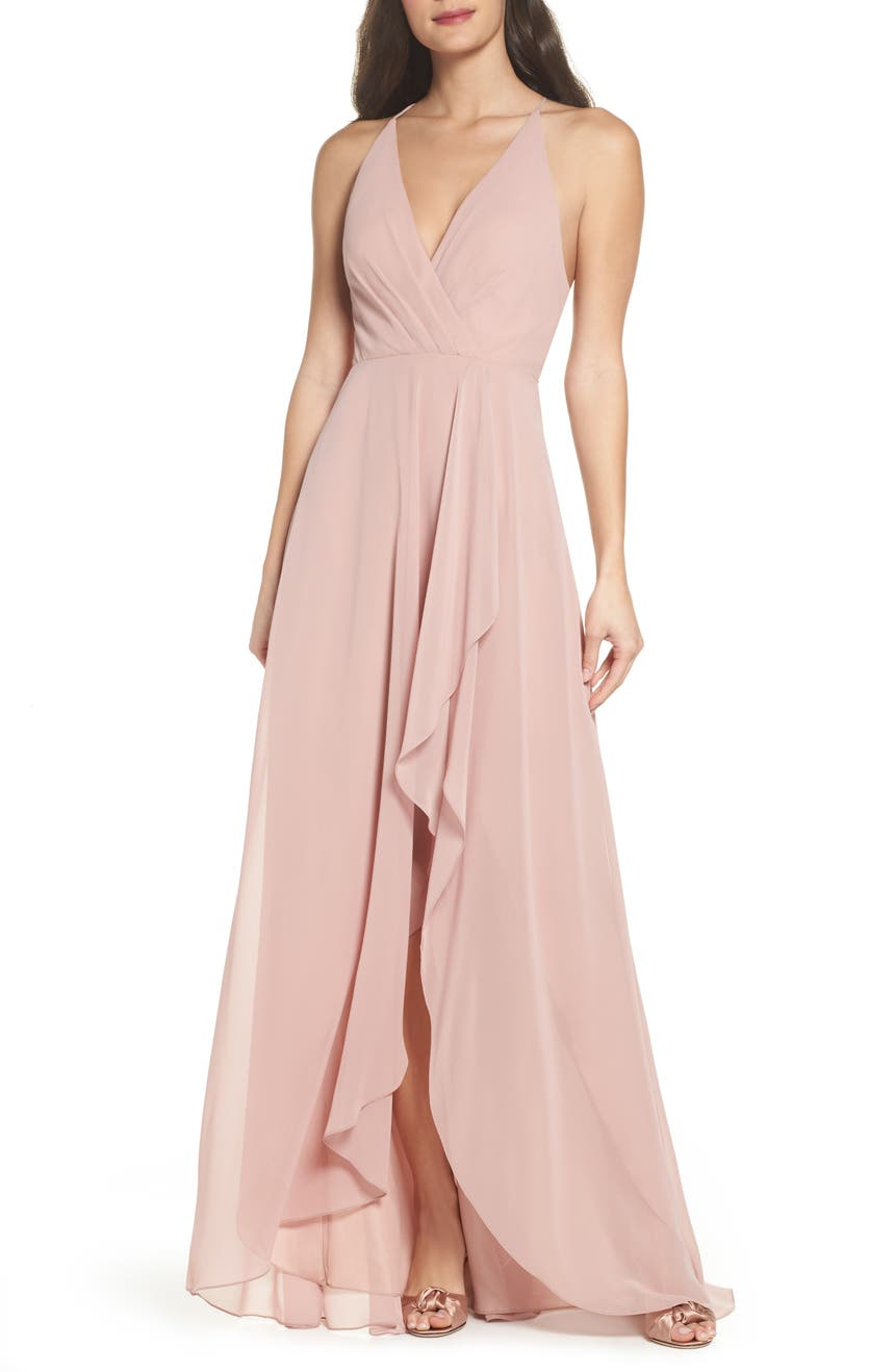 Bridesmaid wedding party dresses nordstrom jenny yoo farrah ruffle skirt chiffon gown ombrellifo Gallery