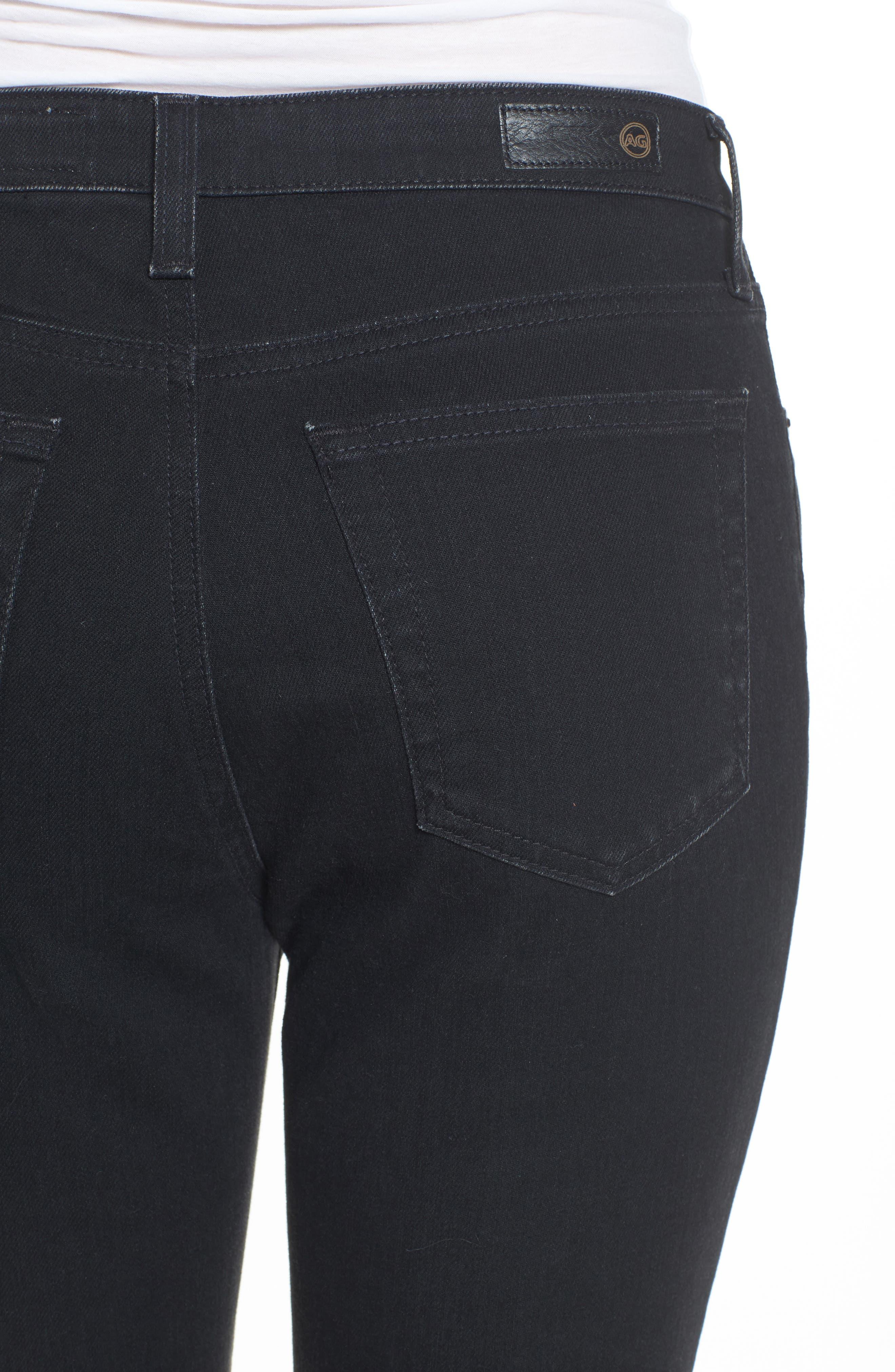 The Isabelle High Waist Crop Straight Leg Jeans,                             Alternate thumbnail 4, color,                             1 Year Black Hawk