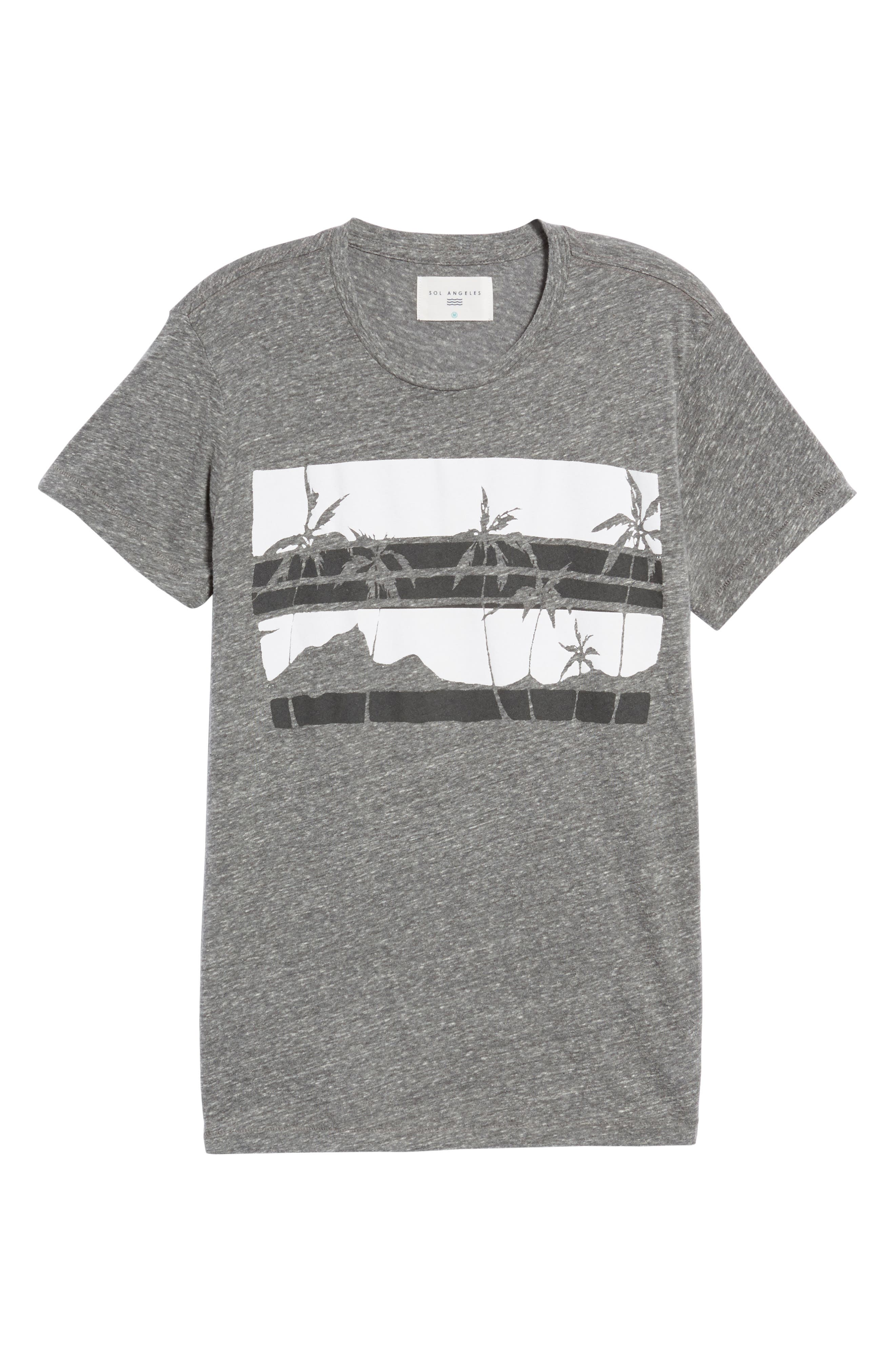 Las Palmas T-Shirt,                             Alternate thumbnail 6, color,                             Heather Grey