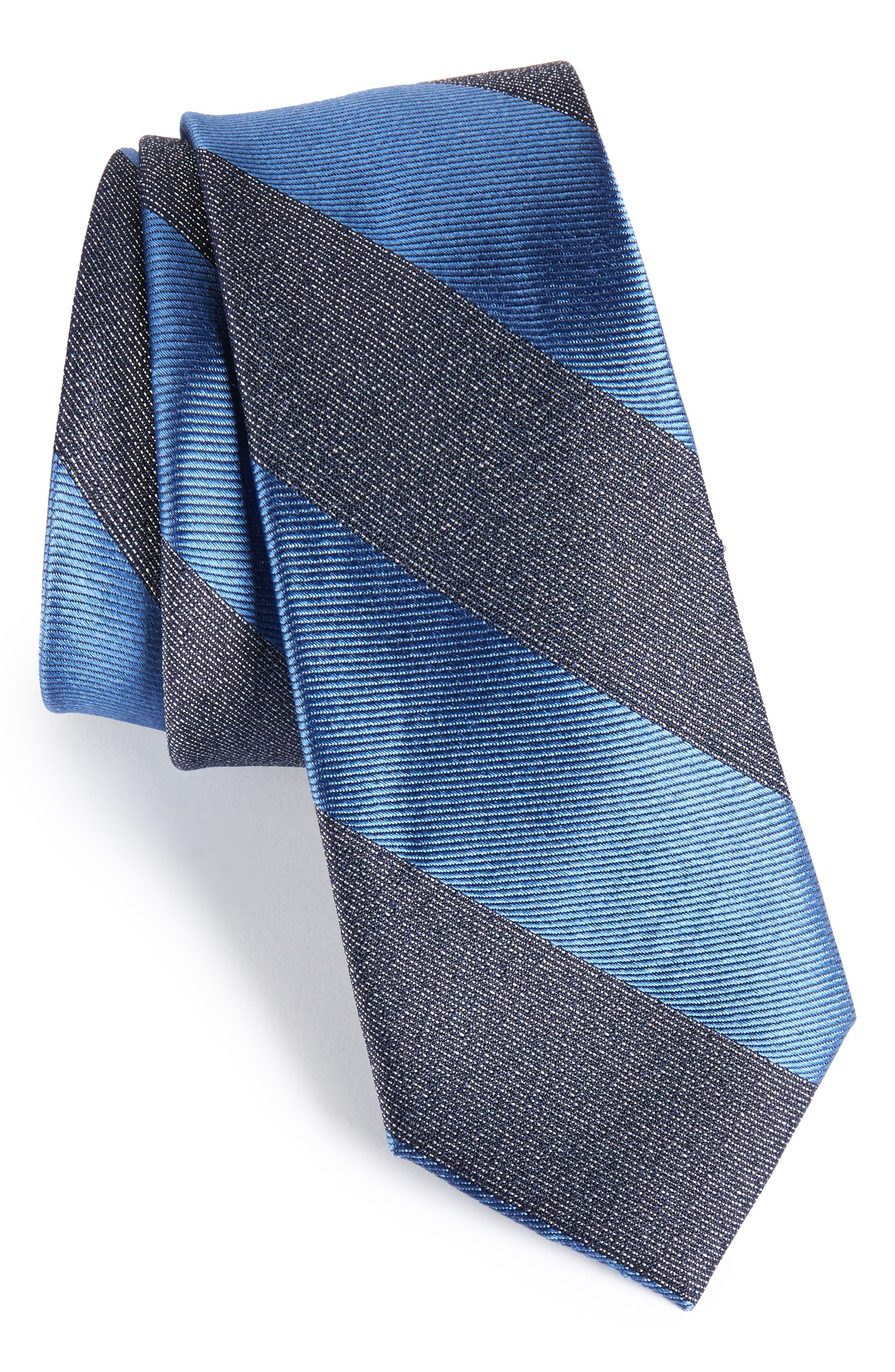 Marble Stripe Silk Tie,                             Main thumbnail 1, color,                             Blue