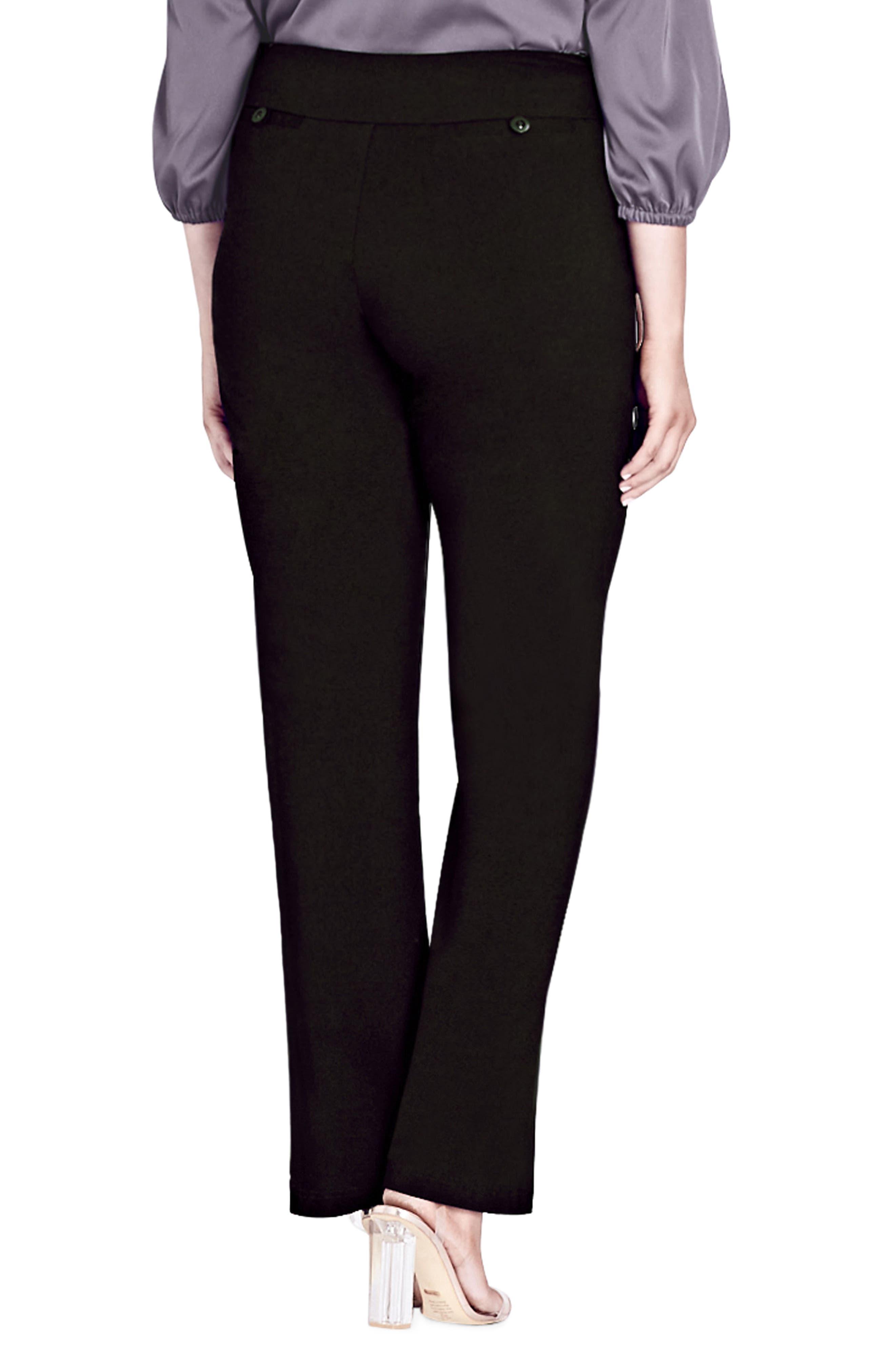 Smart Bengaline Pants,                             Alternate thumbnail 2, color,                             Black