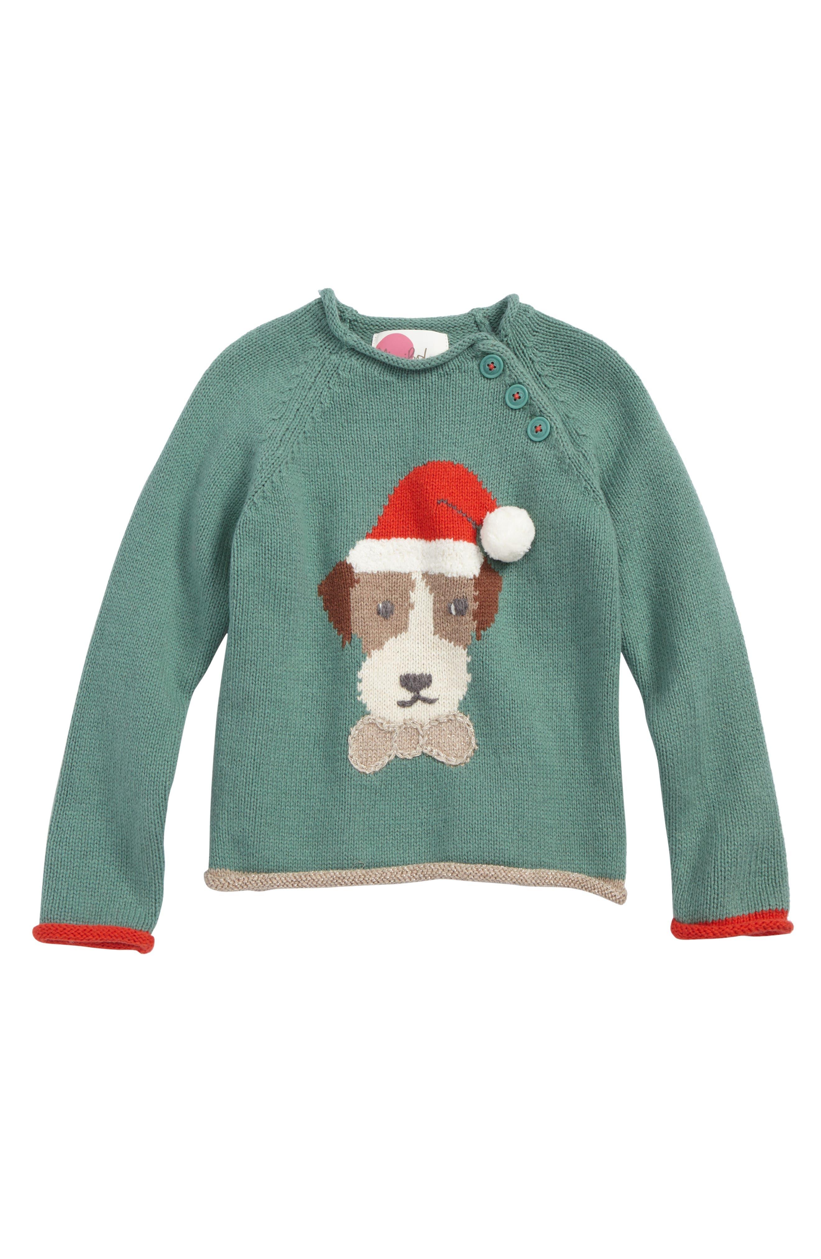 Mini Boden Christmas Spirit Sweater (Toddler Girls, Little Girls & Big Girls)