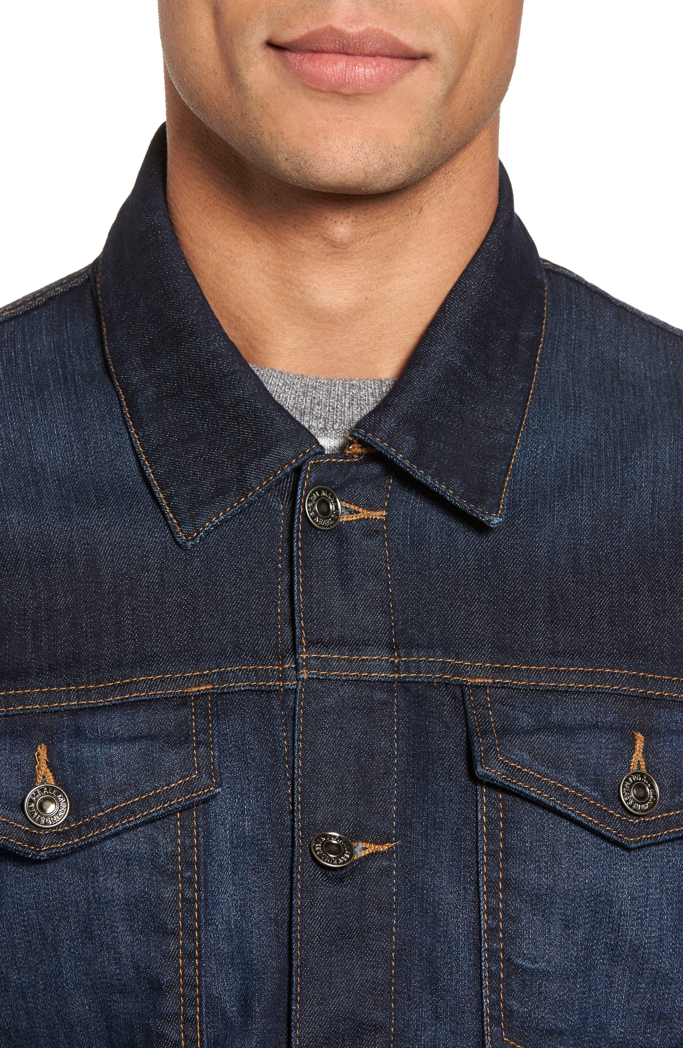 Denim Jacket,                             Alternate thumbnail 4, color,                             Melrose Vintage